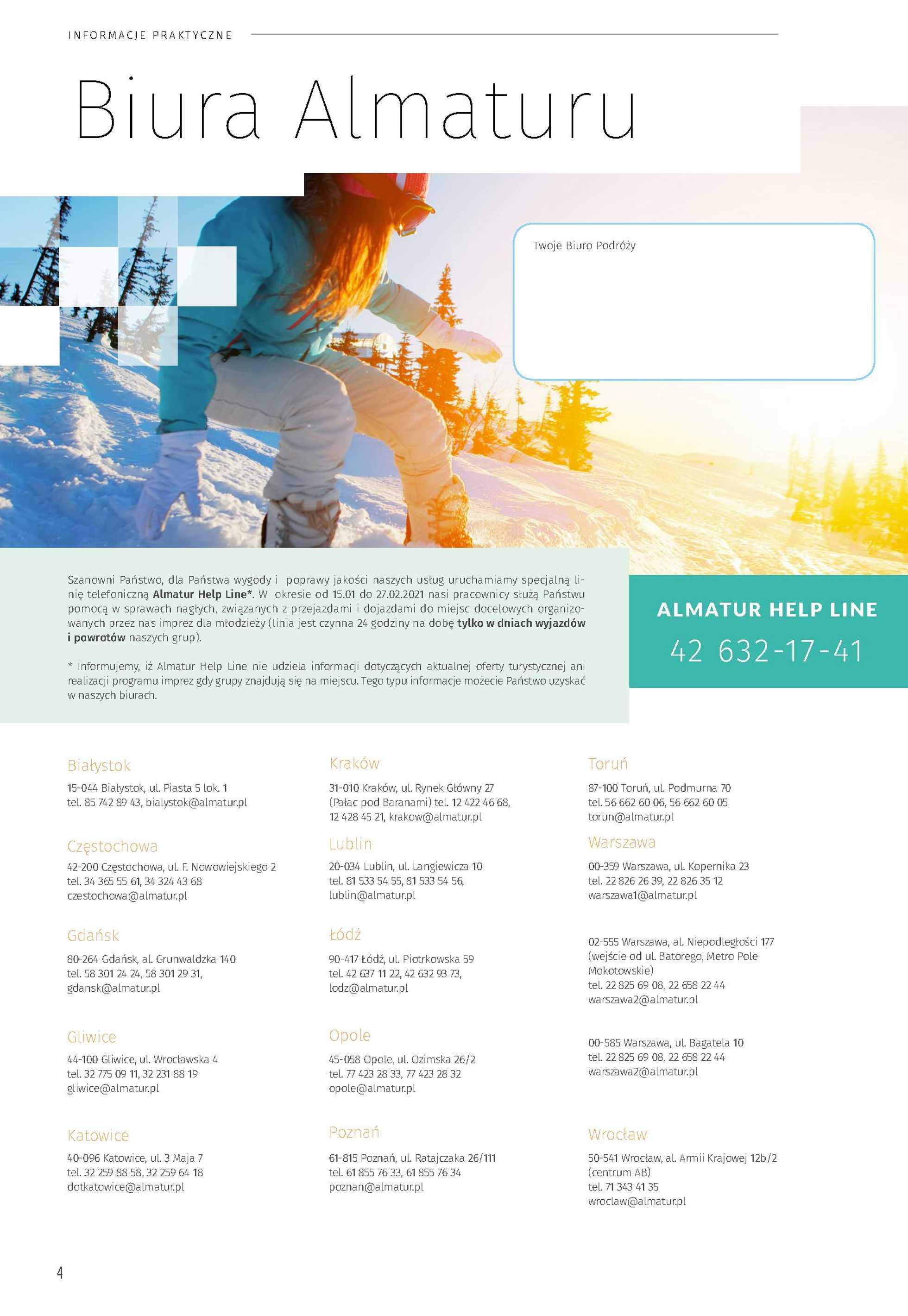 Almatur - gazetka promocyjna ważna od 23.09.2020 do 31.12.2020 - strona 4.