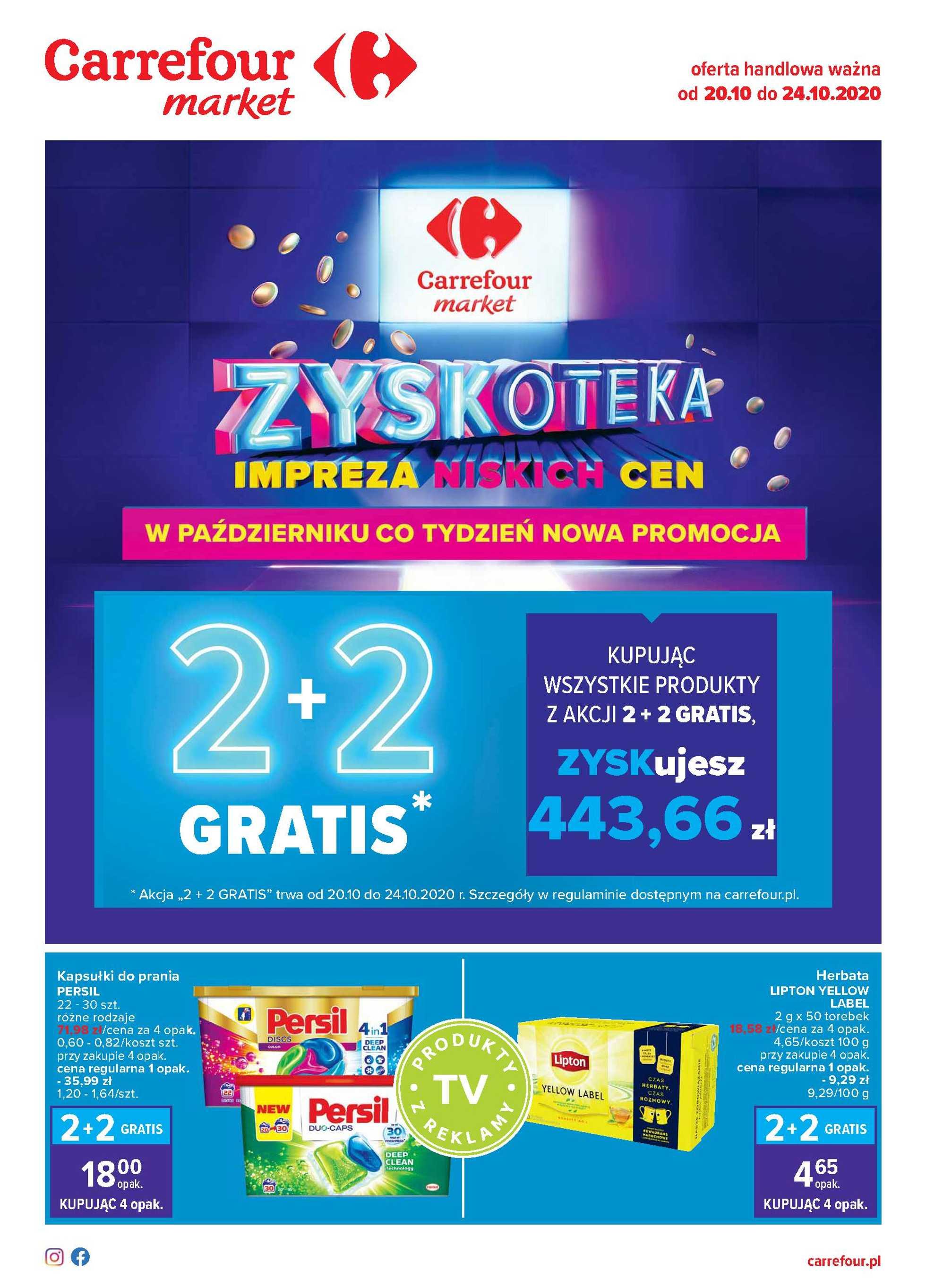 Carrefour Market - gazetka promocyjna ważna od 20.10.2020 do 24.10.2020 - strona 1.
