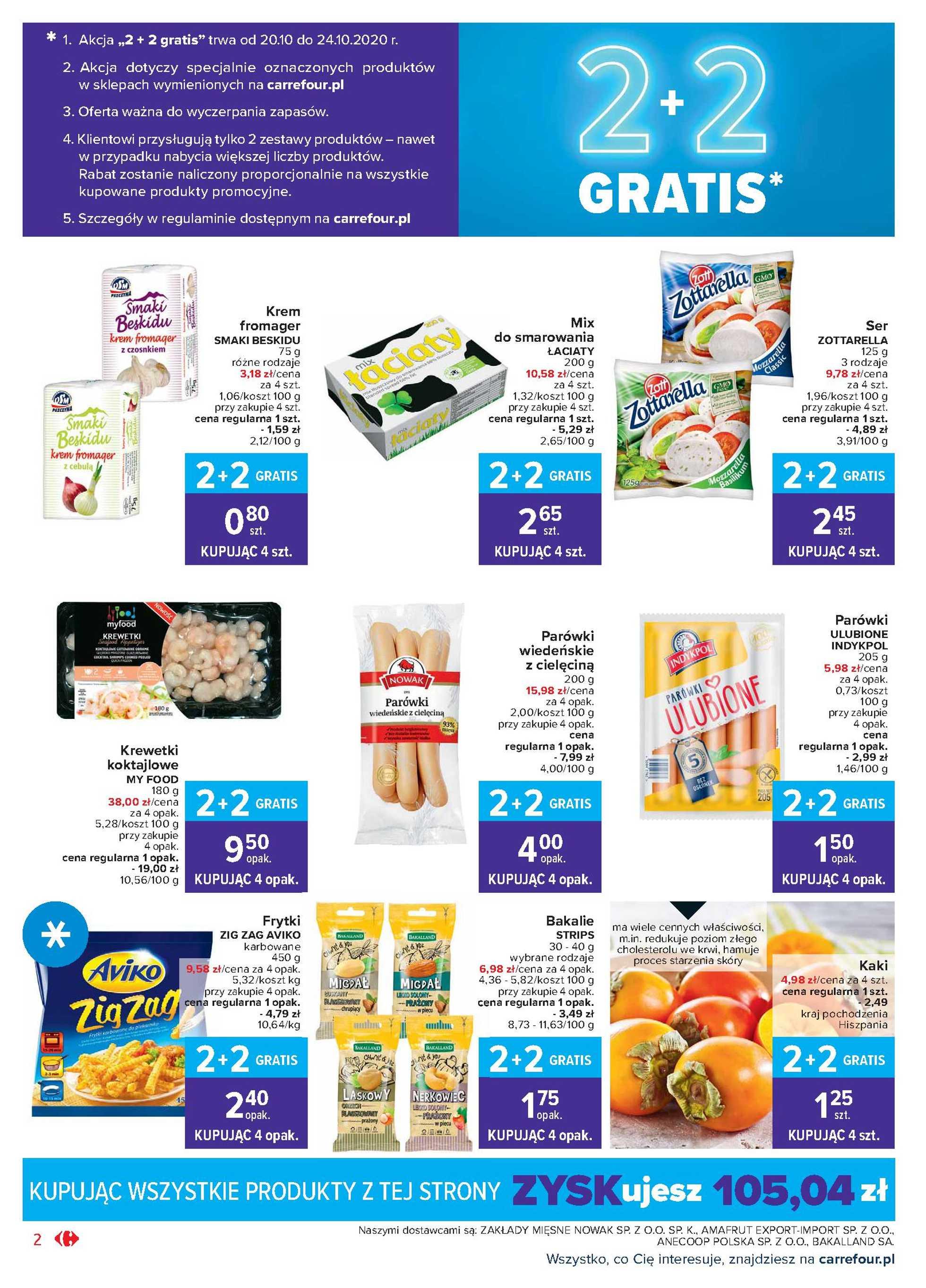 Carrefour Market - gazetka promocyjna ważna od 20.10.2020 do 24.10.2020 - strona 2.