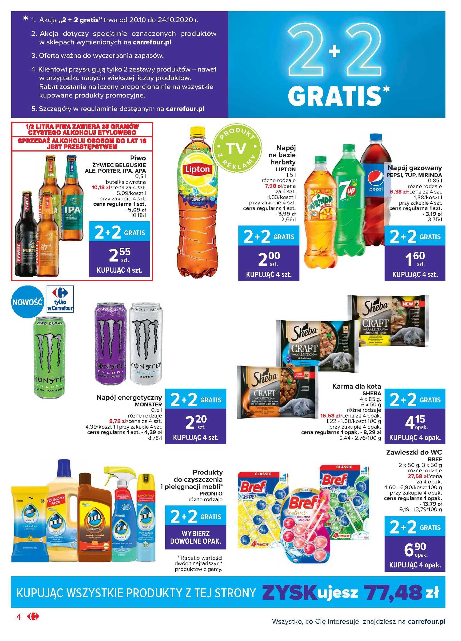 Carrefour Market - gazetka promocyjna ważna od 20.10.2020 do 24.10.2020 - strona 4.
