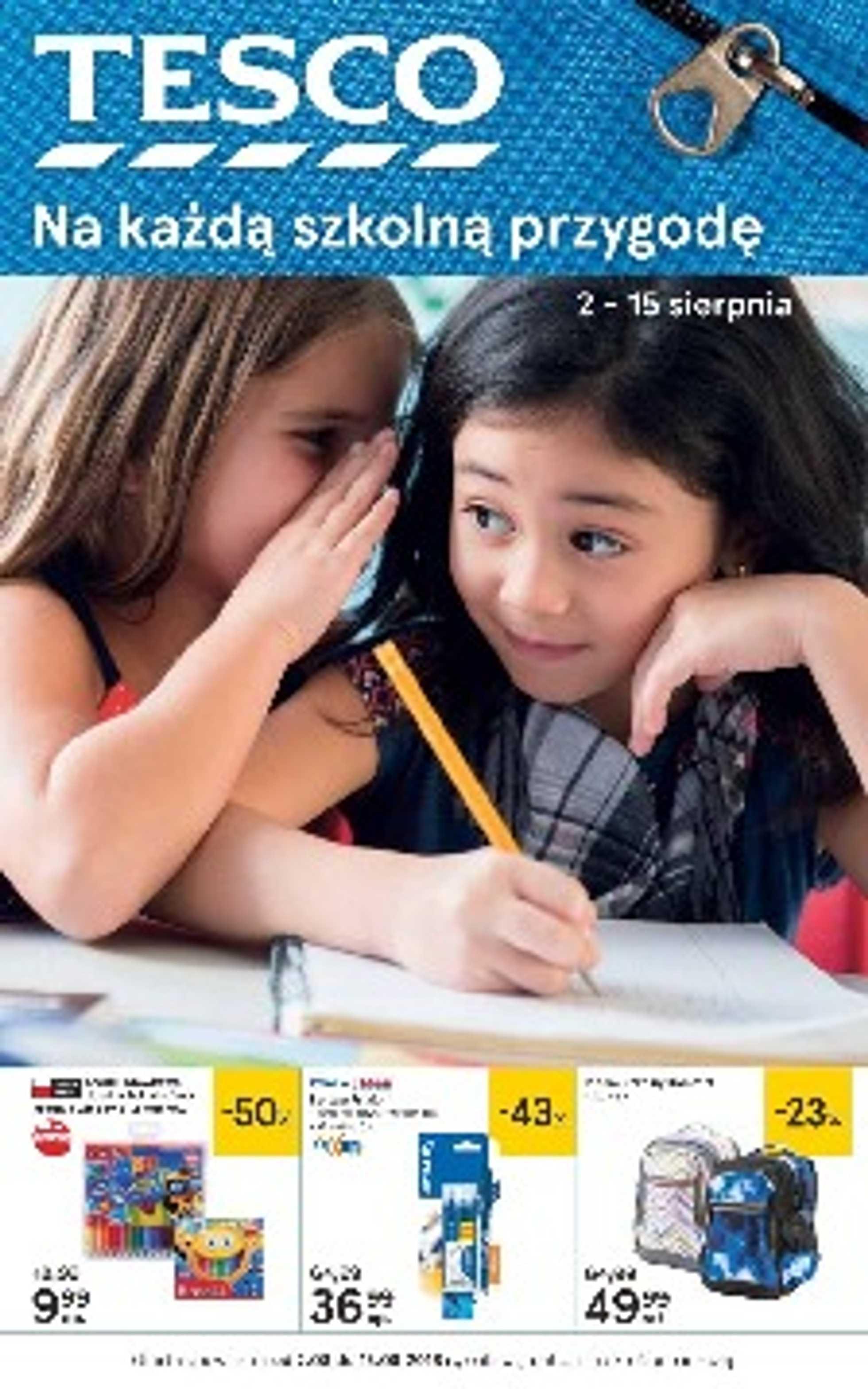 Tesco - gazetka promocyjna ważna od 02.08.2018 do 15.08.2018 - strona 1.