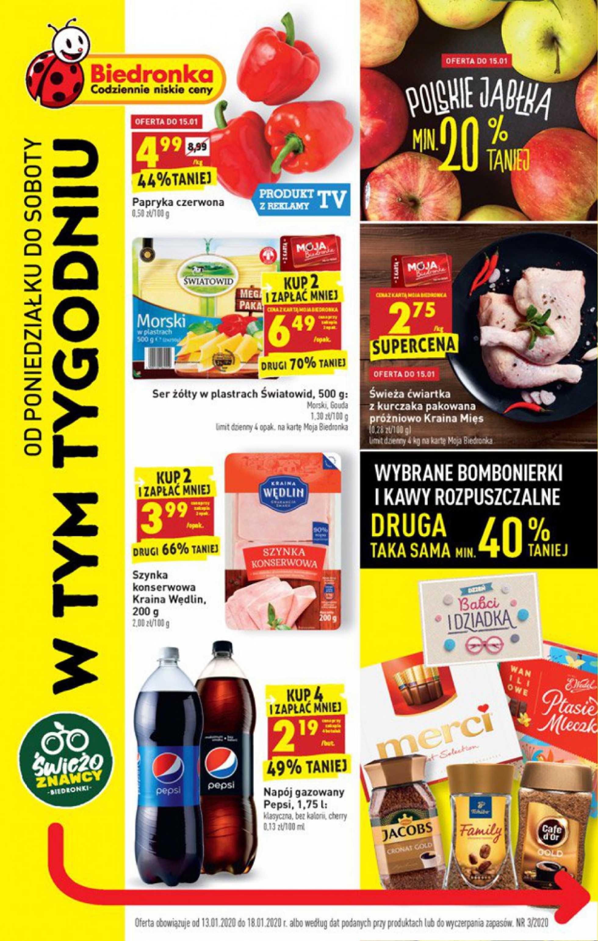Biedronka - gazetka promocyjna ważna od 13.01.2020 do 18.01.2020 - strona 1.