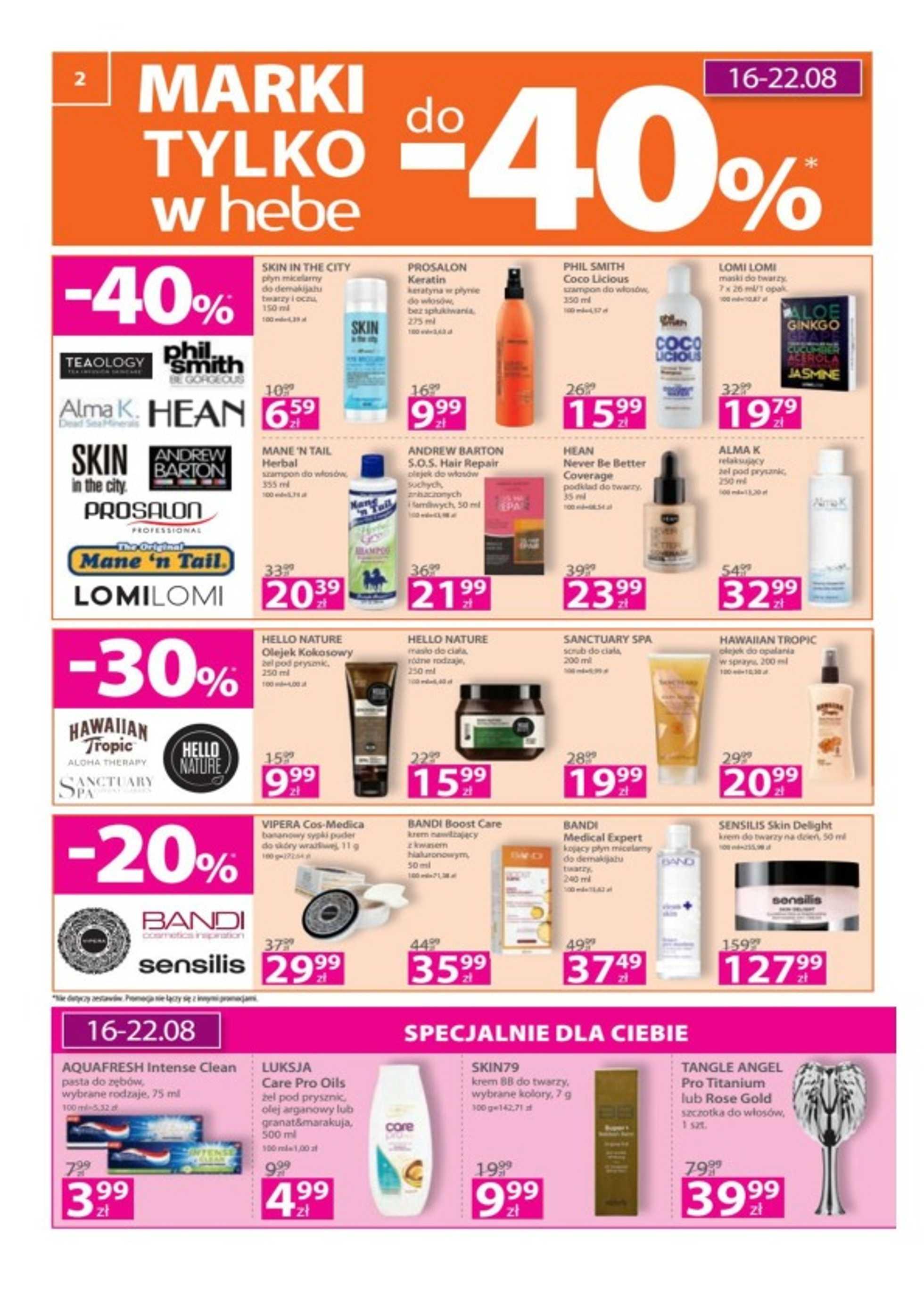 Hebe - gazetka promocyjna ważna od 16.08.2018 do 29.08.2018 - strona 2.