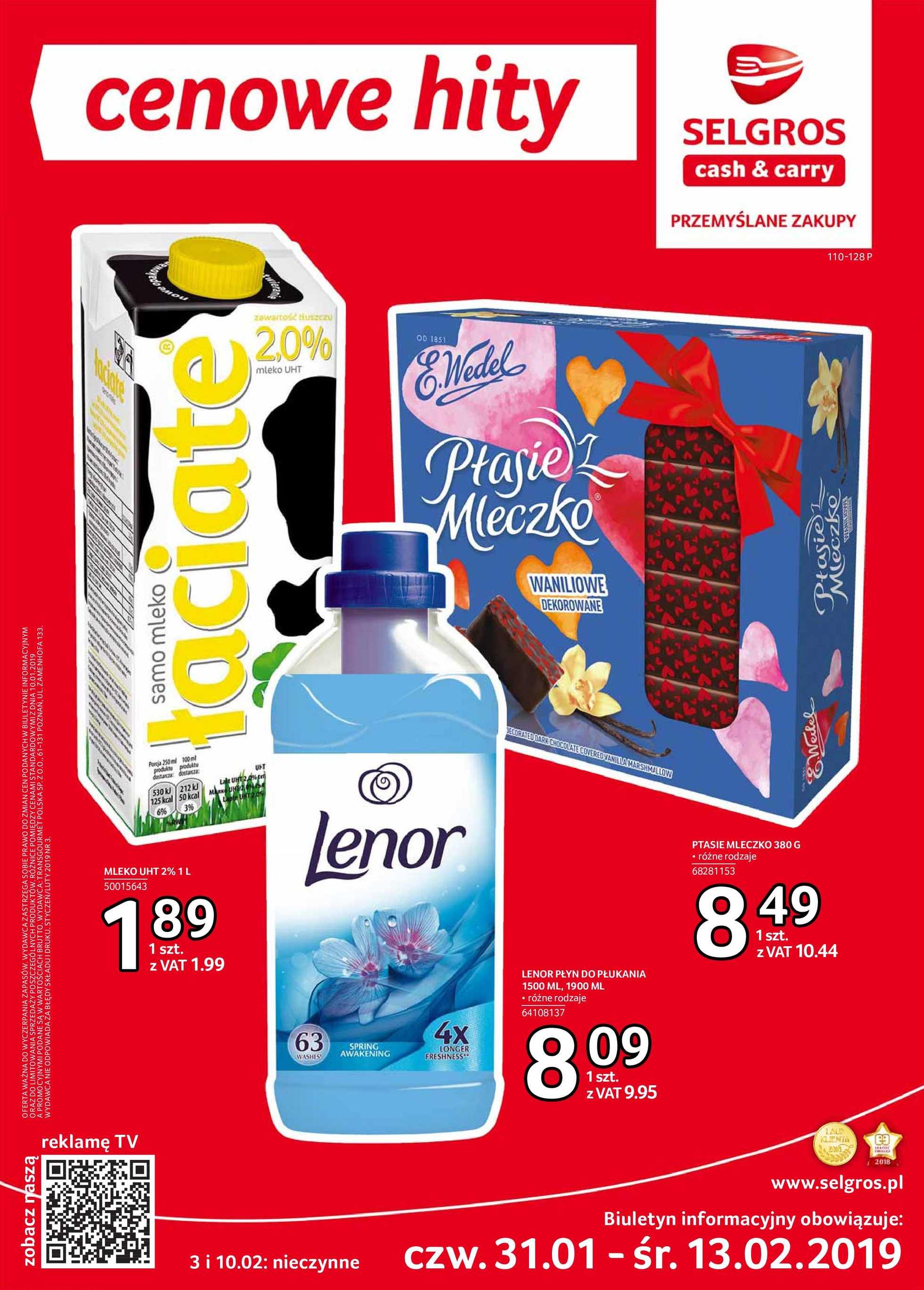 Selgros Cash&Carry - gazetka promocyjna ważna od 31.01.2019 do 13.02.2019 - strona 1.