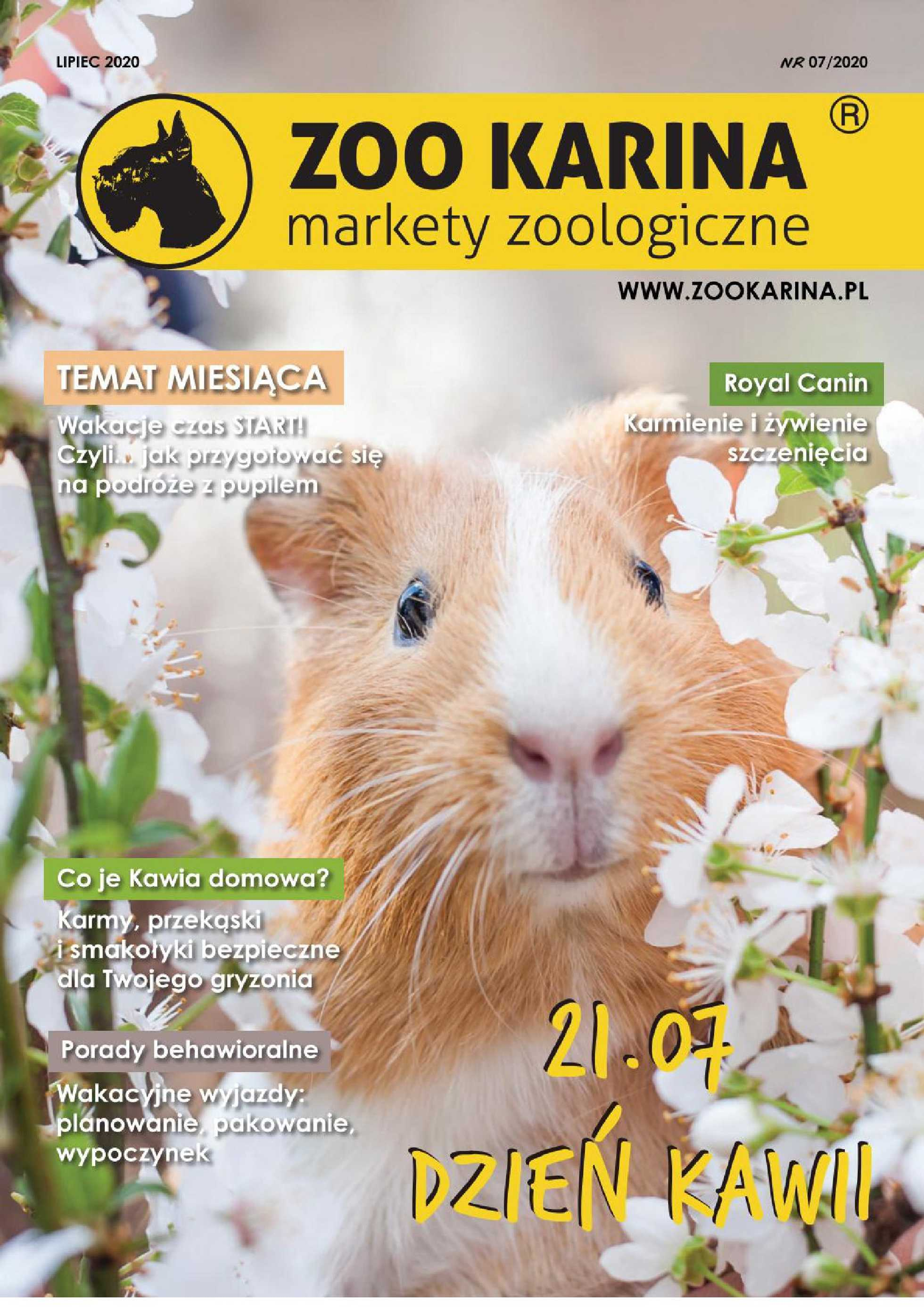 ZOO Karina - gazetka promocyjna ważna od 01.07.2020 do 31.07.2020 - strona 1.