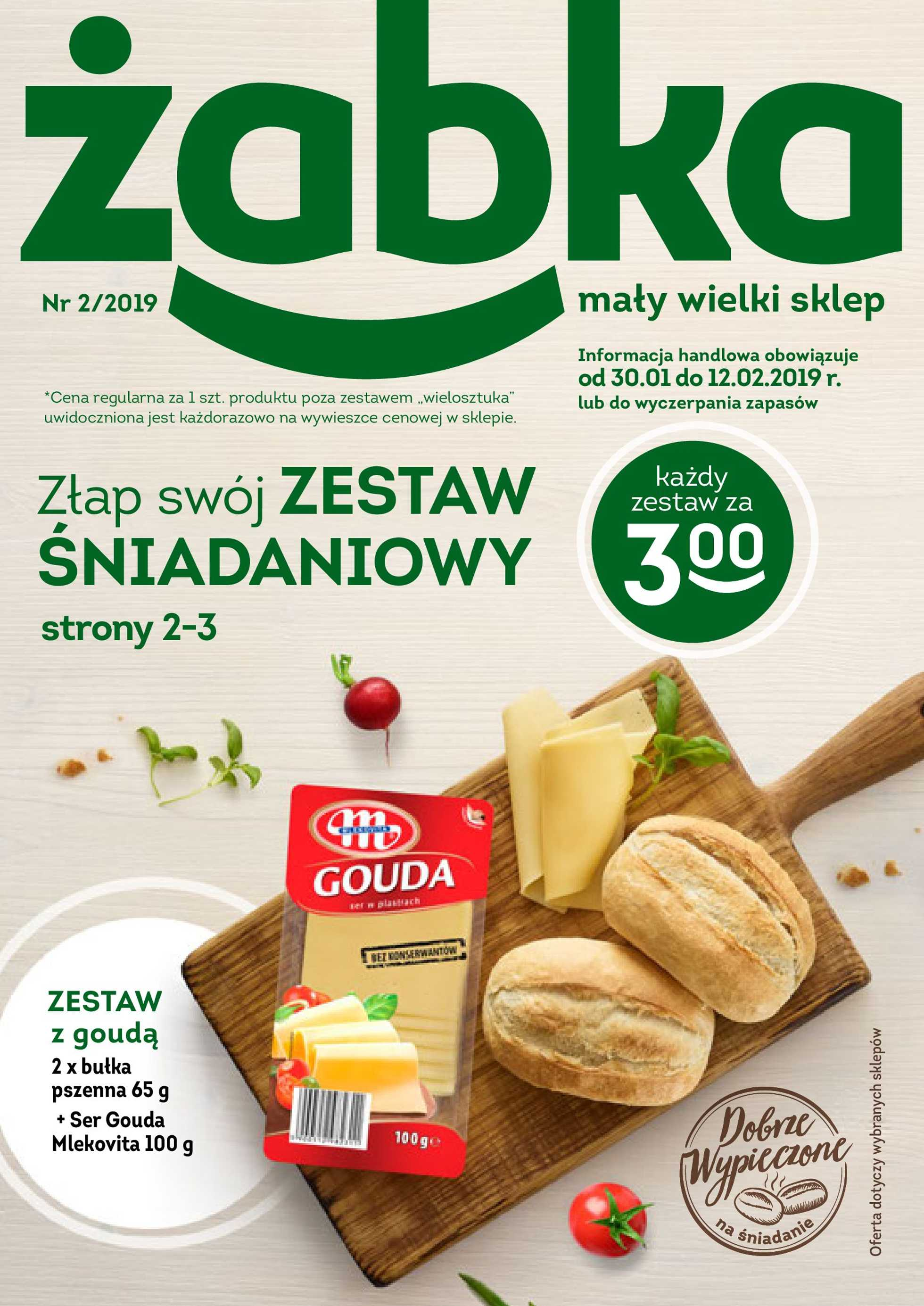Żabka - gazetka promocyjna ważna od 30.01.2019 do 12.02.2019 - strona 1.
