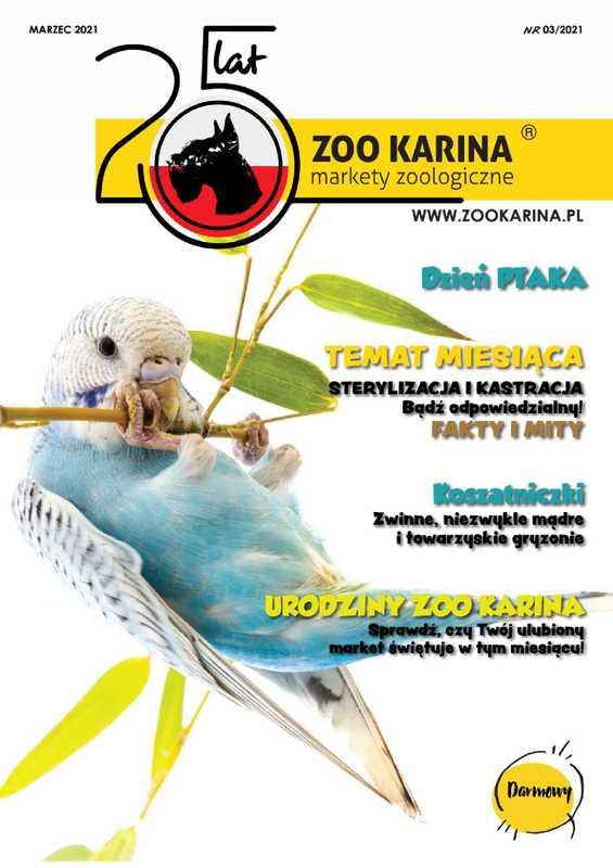 ZOO Karina - gazetka promocyjna ważna od 01.03.2021 do 31.03.2021 - strona 1.