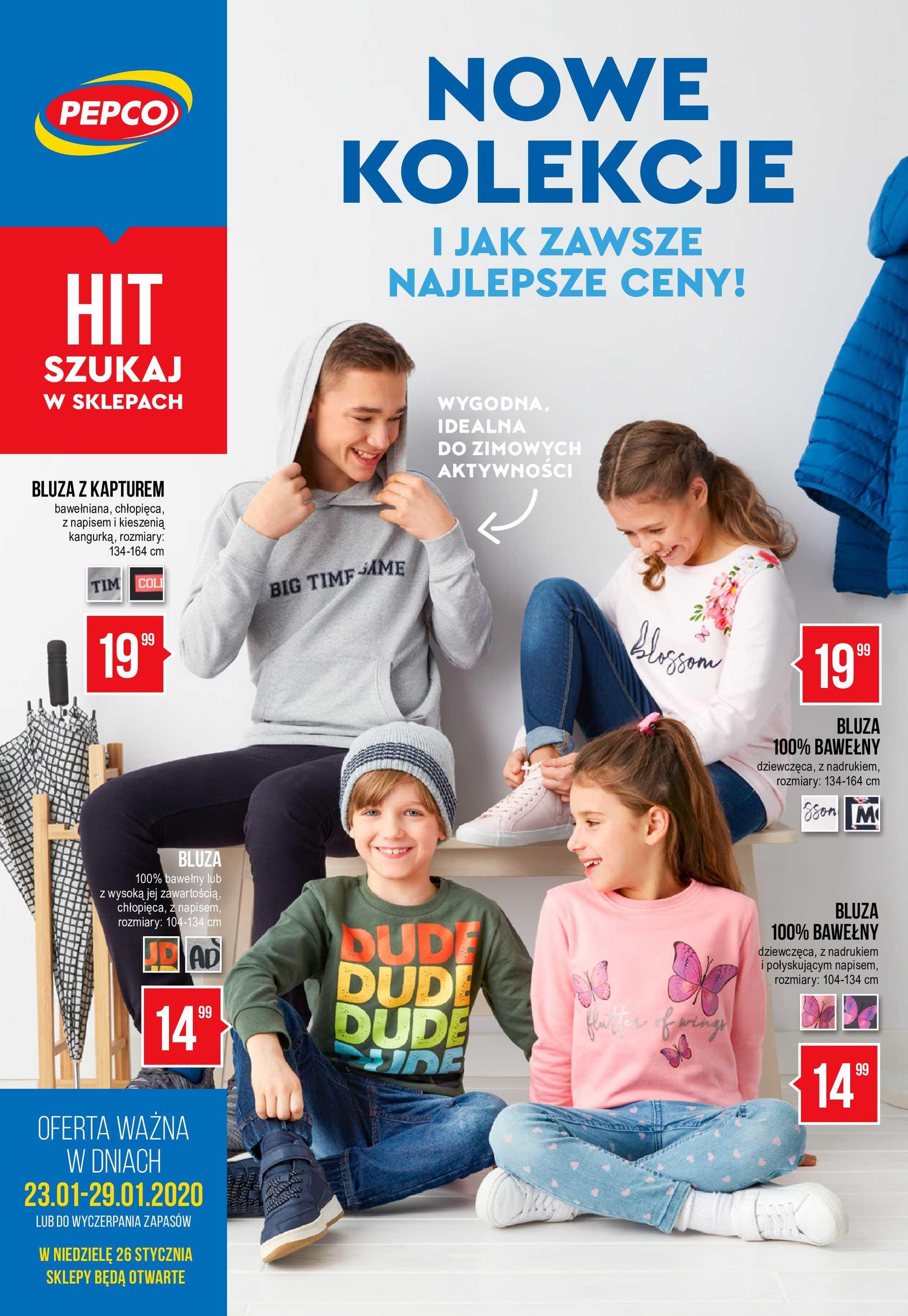 Pepco - gazetka promocyjna ważna od 23.01.2020 do 29.01.2020 - strona 1.