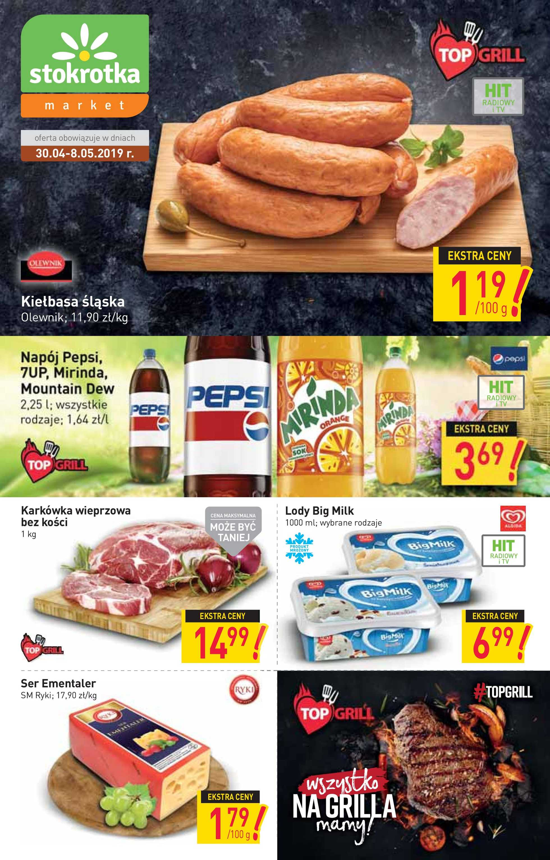 Stokrotka Market - gazetka promocyjna ważna od 30.04.2019 do 08.05.2019 - strona 1.