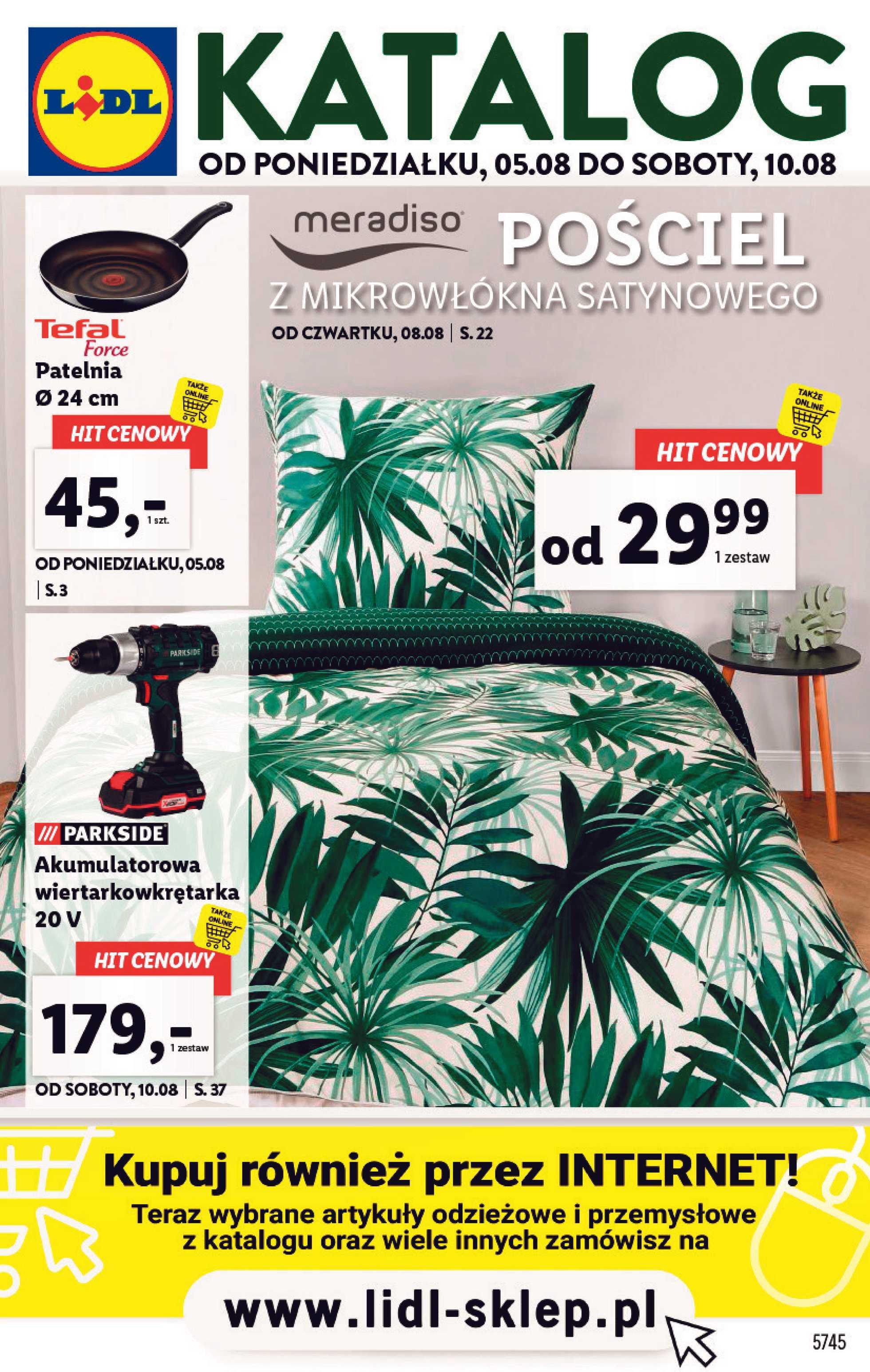 Lidl - gazetka promocyjna ważna od 05.08.2019 do 10.08.2019 - strona 1.