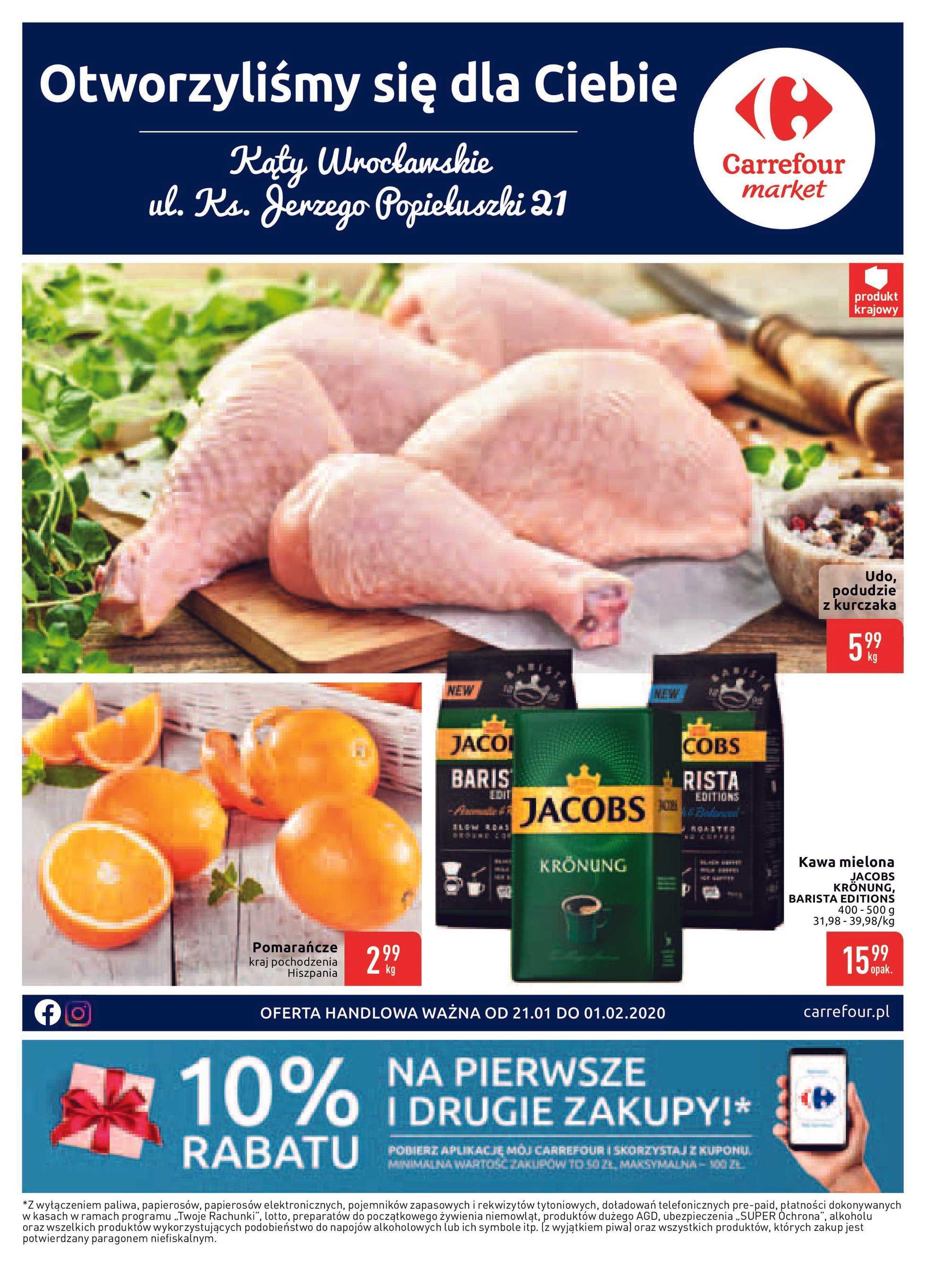 Carrefour Market - gazetka promocyjna ważna od 21.01.2020 do 01.02.2020 - strona 1.
