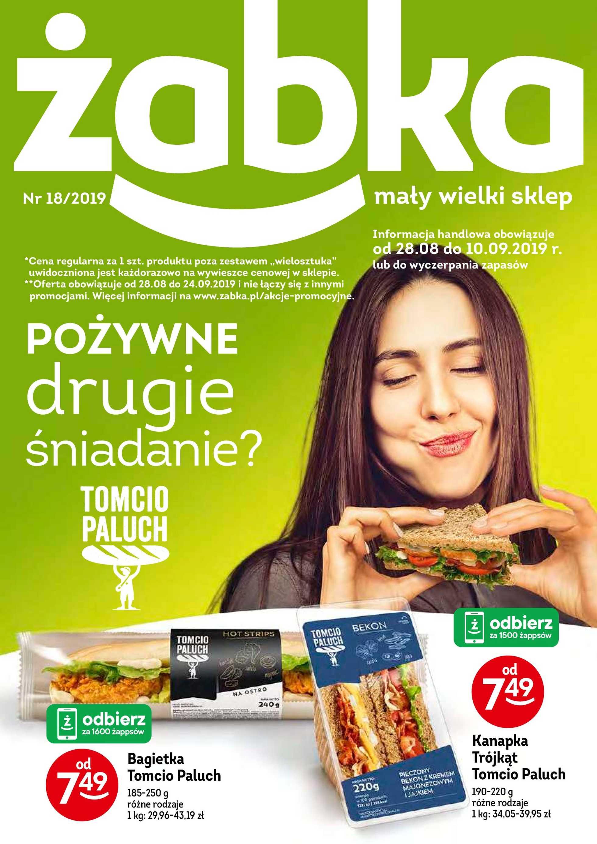 Żabka - gazetka promocyjna ważna od 28.08.2019 do 10.09.2019 - strona 1.
