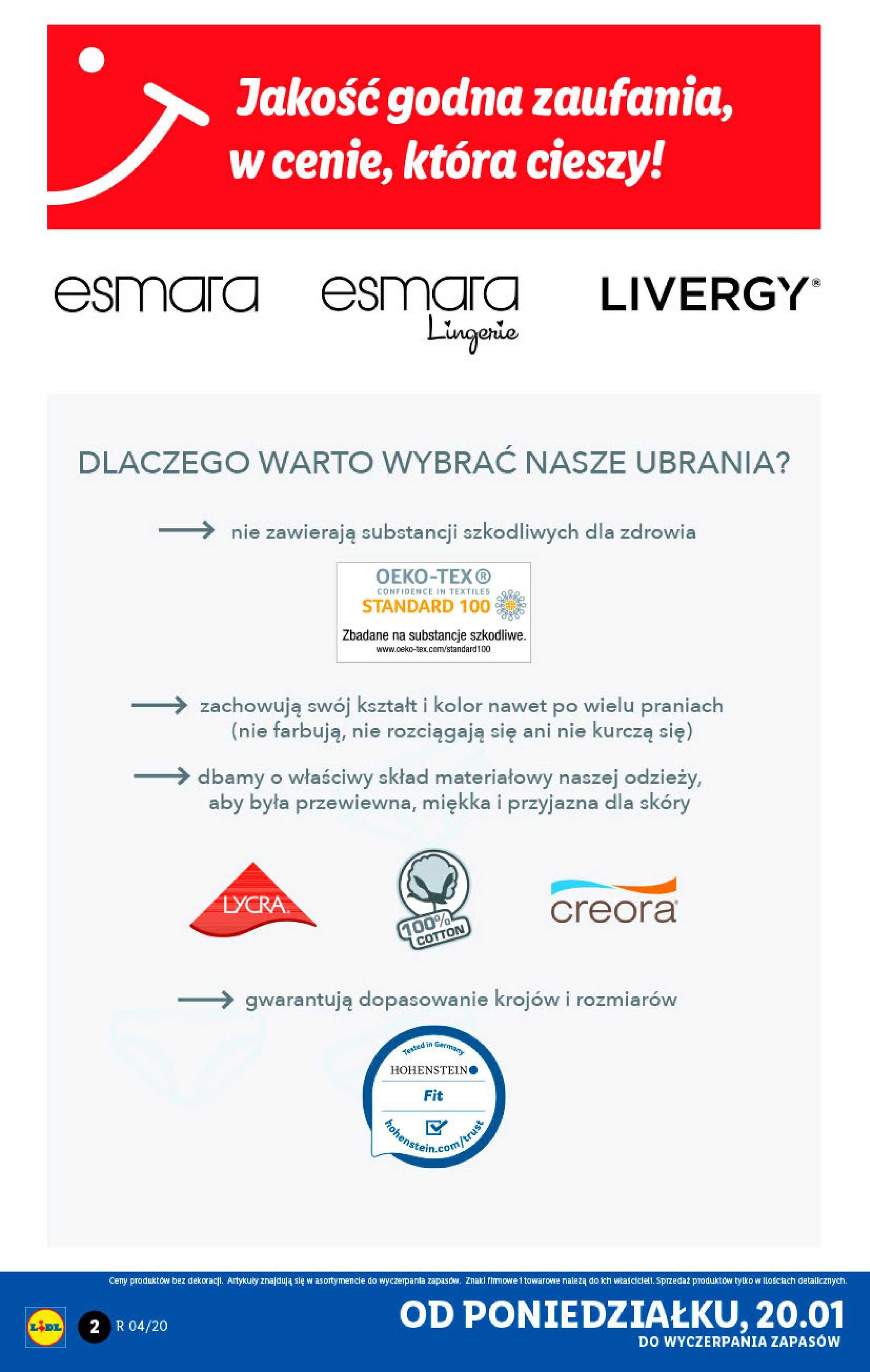 Lidl - gazetka promocyjna ważna od 20.01.2020 do 26.01.2020 - strona 2.