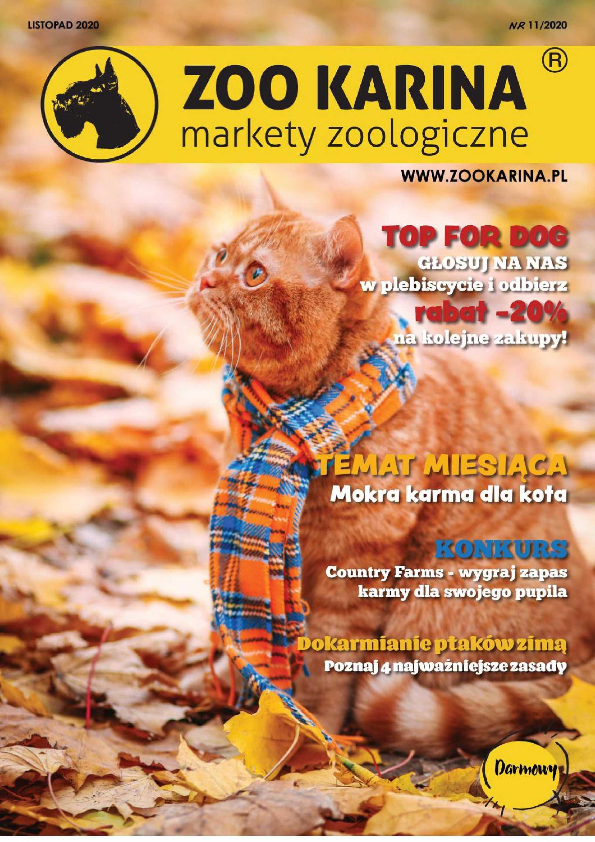 ZOO Karina - gazetka promocyjna ważna od 01.11.2020 do 30.11.2020 - strona 1.
