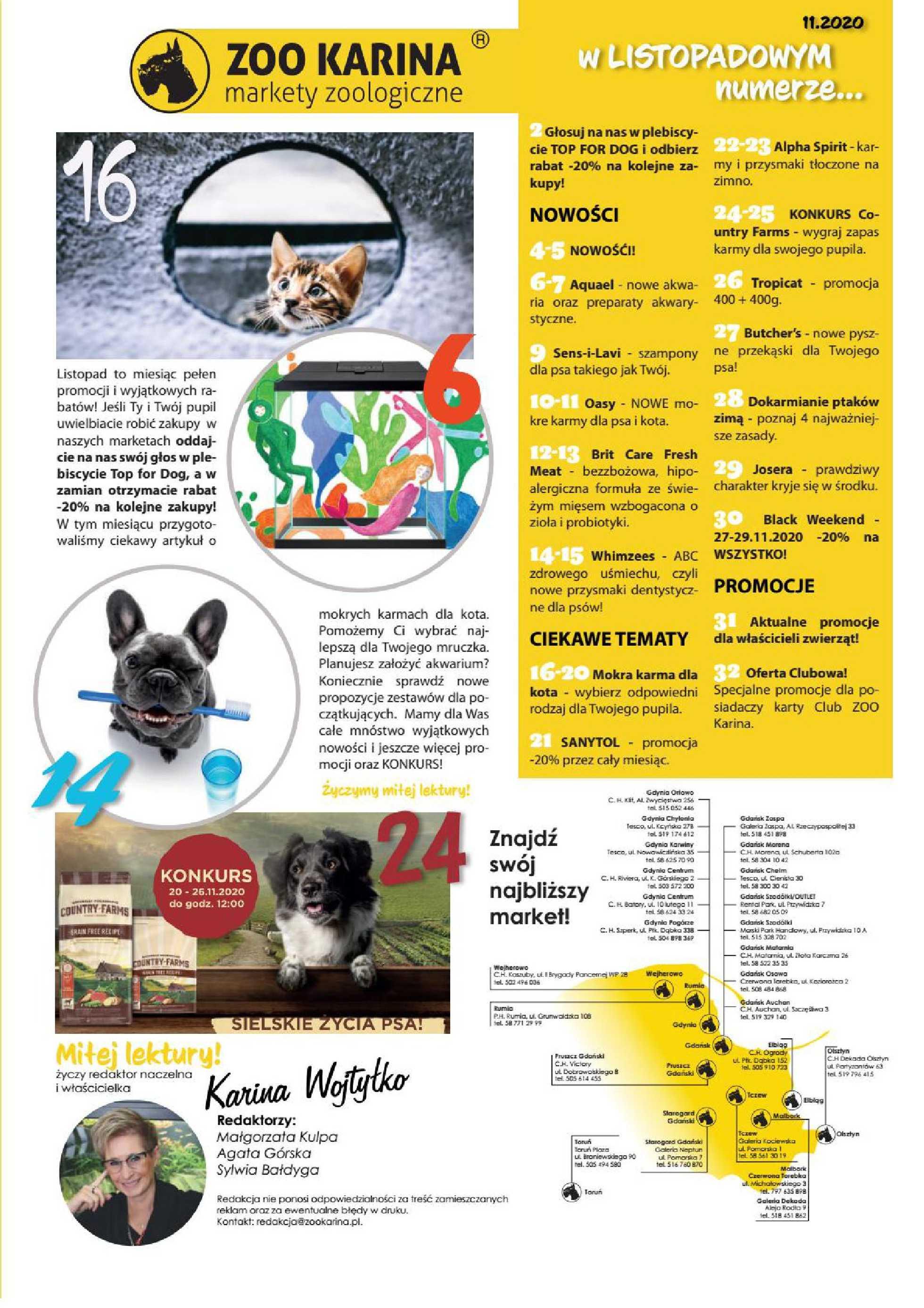 ZOO Karina - gazetka promocyjna ważna od 01.11.2020 do 30.11.2020 - strona 3.