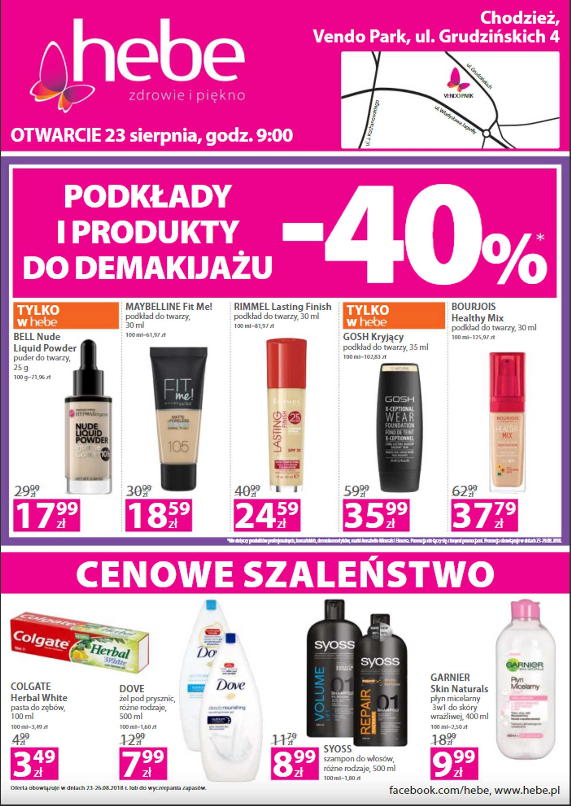 Hebe - gazetka promocyjna ważna od 23.08.2018 do 26.08.2018 - strona 1.