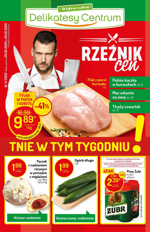 Delikatesy Centrum - gazetka promocyjna ważna od 20.02.2020 do 26.02.2020 - strona 1.