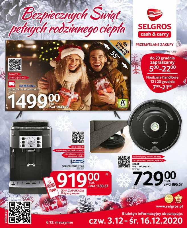Selgros Cash&Carry - gazetka promocyjna ważna od 03.12.2020 do 16.12.2020 - strona 1.