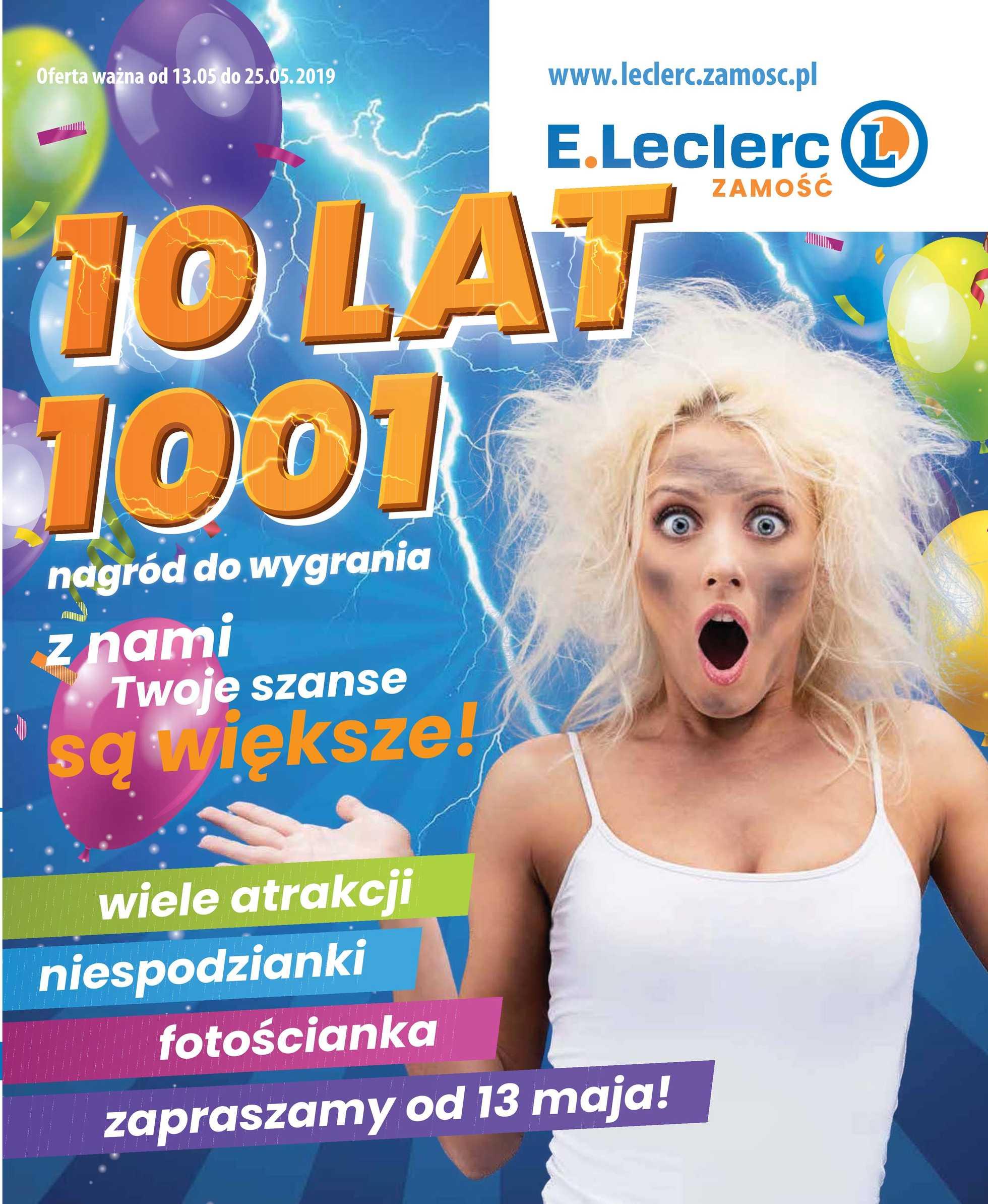 E.Leclerc - gazetka promocyjna ważna od 13.05.2019 do 25.05.2019 - strona 1.