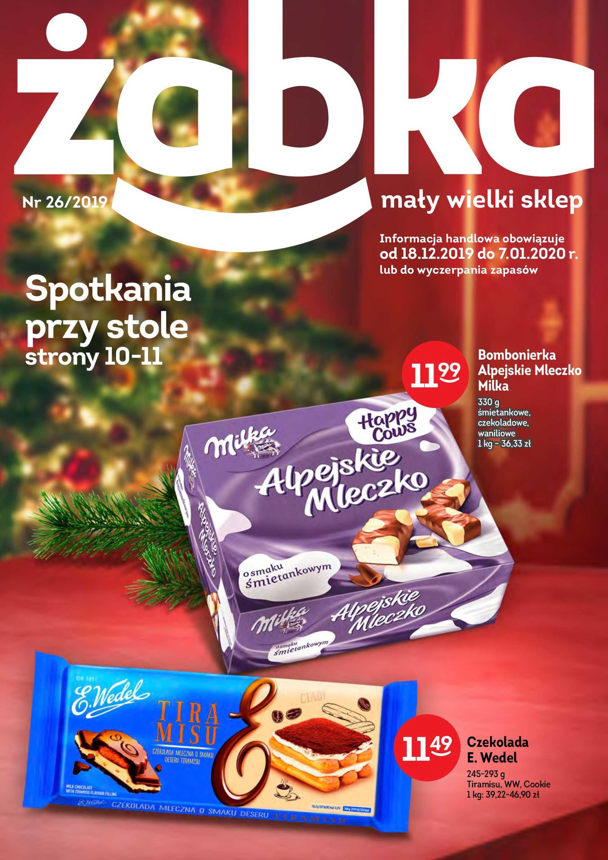 Żabka - gazetka promocyjna ważna od 18.12.2019 do 07.01.2020 - strona 1.