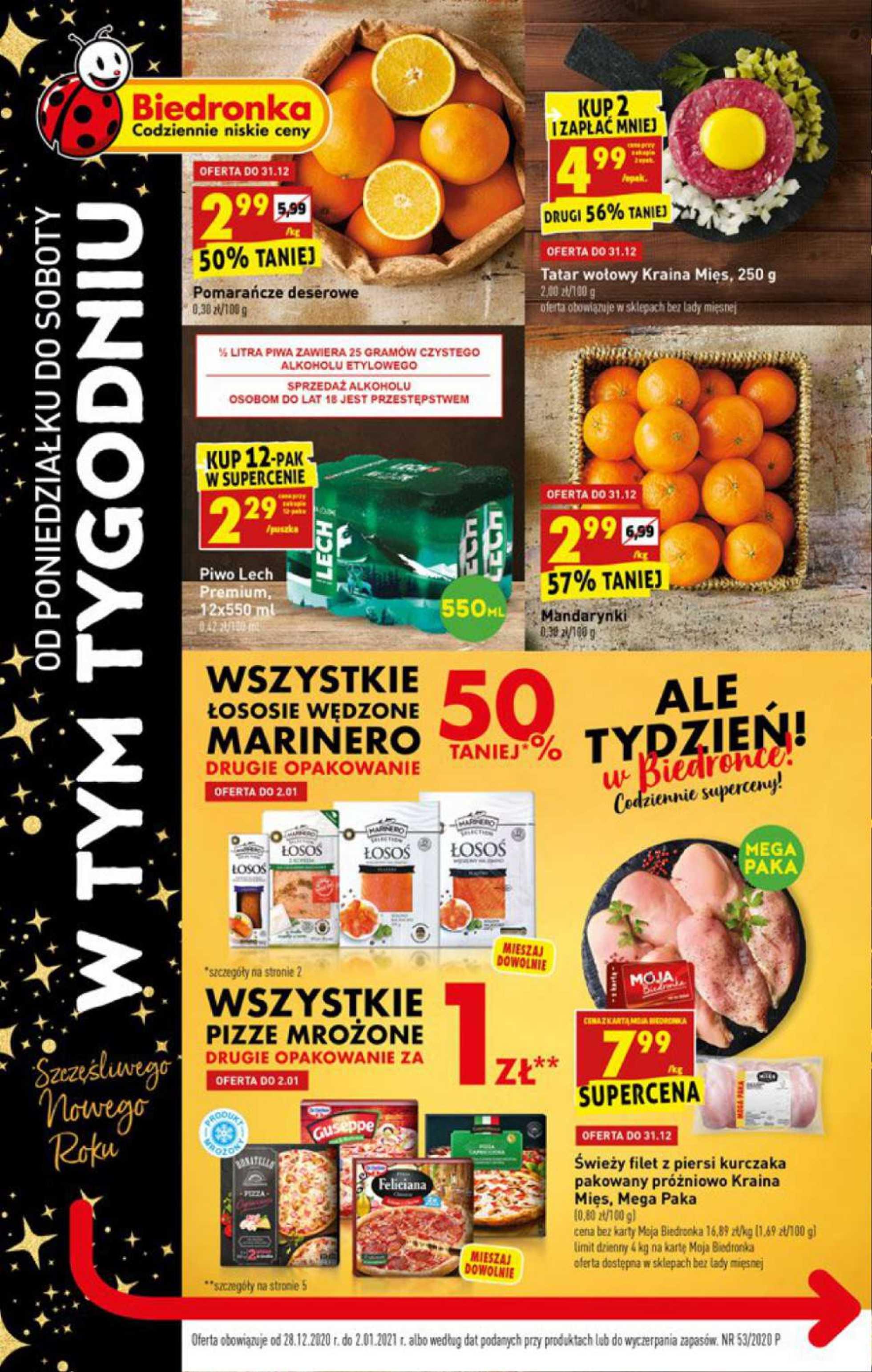 Biedronka - gazetka promocyjna ważna od 28.12.2020 do 02.01.2021 - strona 1.