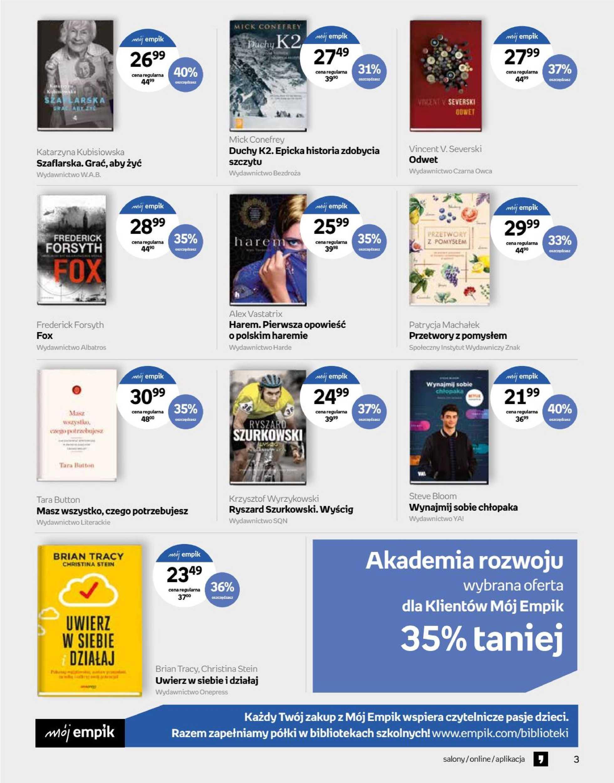 Empik - gazetka promocyjna ważna od 18.09.2019 do 01.10.2019 - strona 3.
