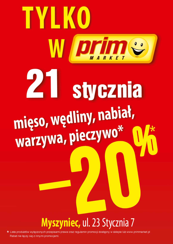 Prim Market - gazetka promocyjna ważna od 21.01.2021 do 21.01.2021 - strona 1.