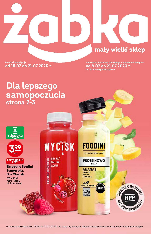 Żabka - gazetka promocyjna ważna od 08.07.2020 do 21.07.2020 - strona 1.