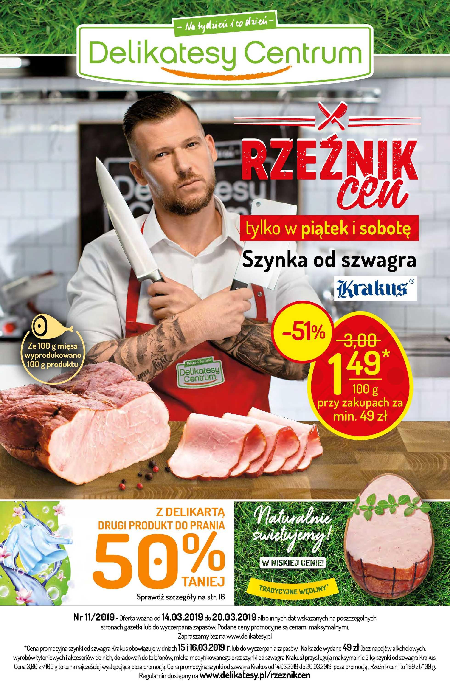 Delikatesy Centrum - gazetka promocyjna ważna od 14.03.2019 do 20.03.2019 - strona 1.