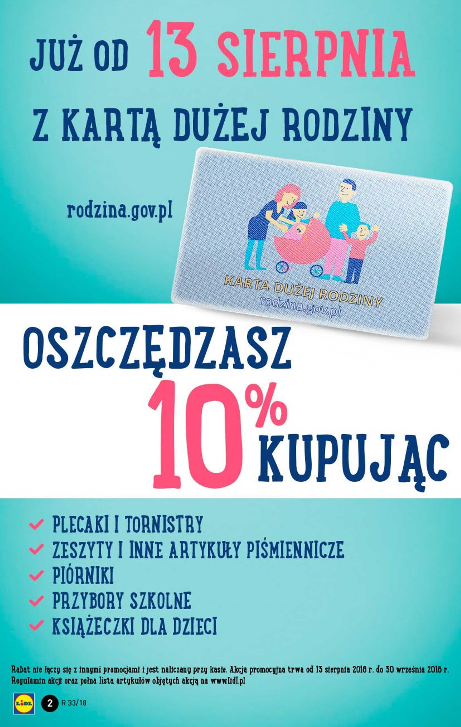 Lidl - gazetka promocyjna ważna od 13.08.2018 do 18.08.2018 - strona 2.