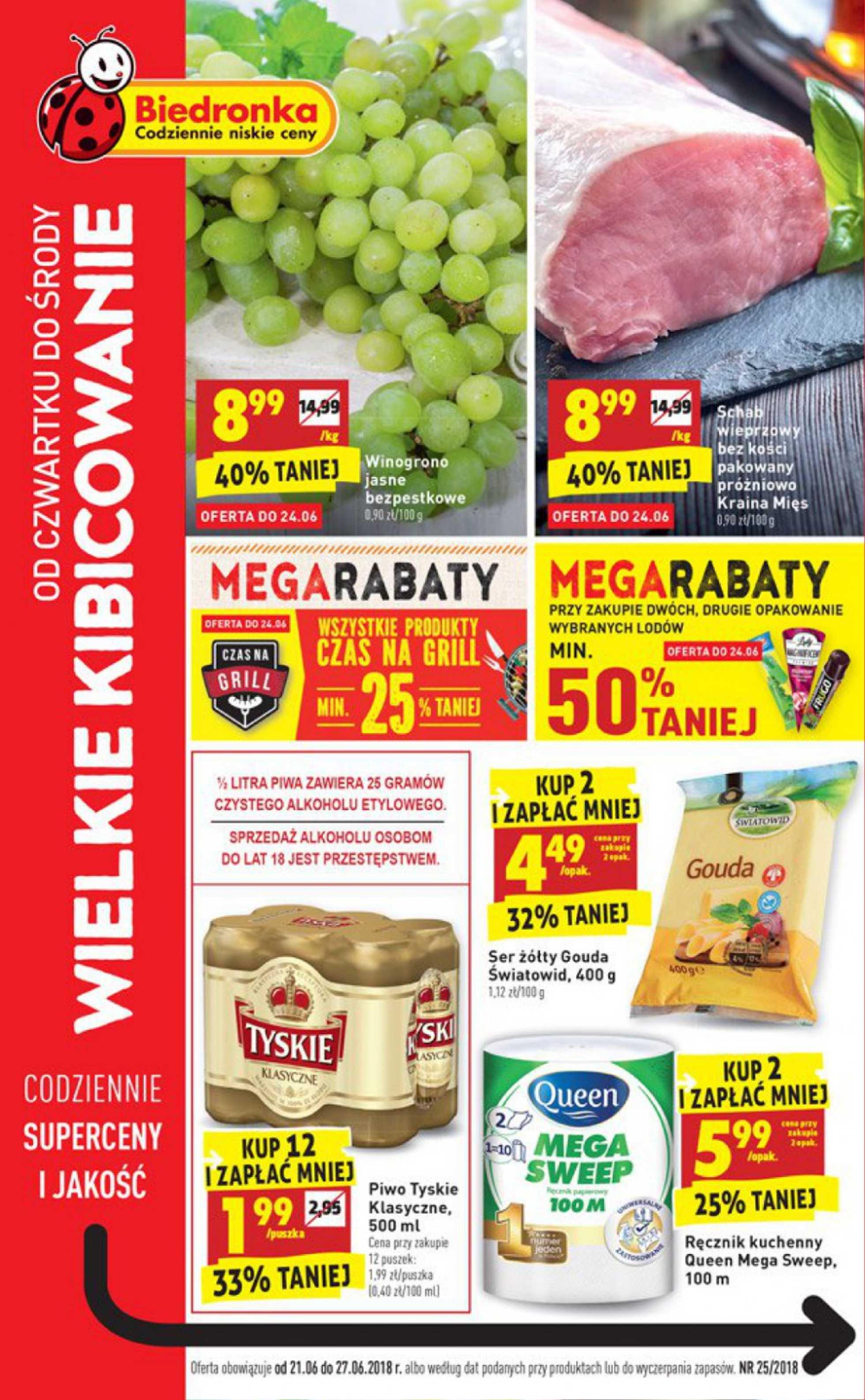 Biedronka - gazetka promocyjna ważna od 21.06.2018 do 27.06.2018 - strona 1.
