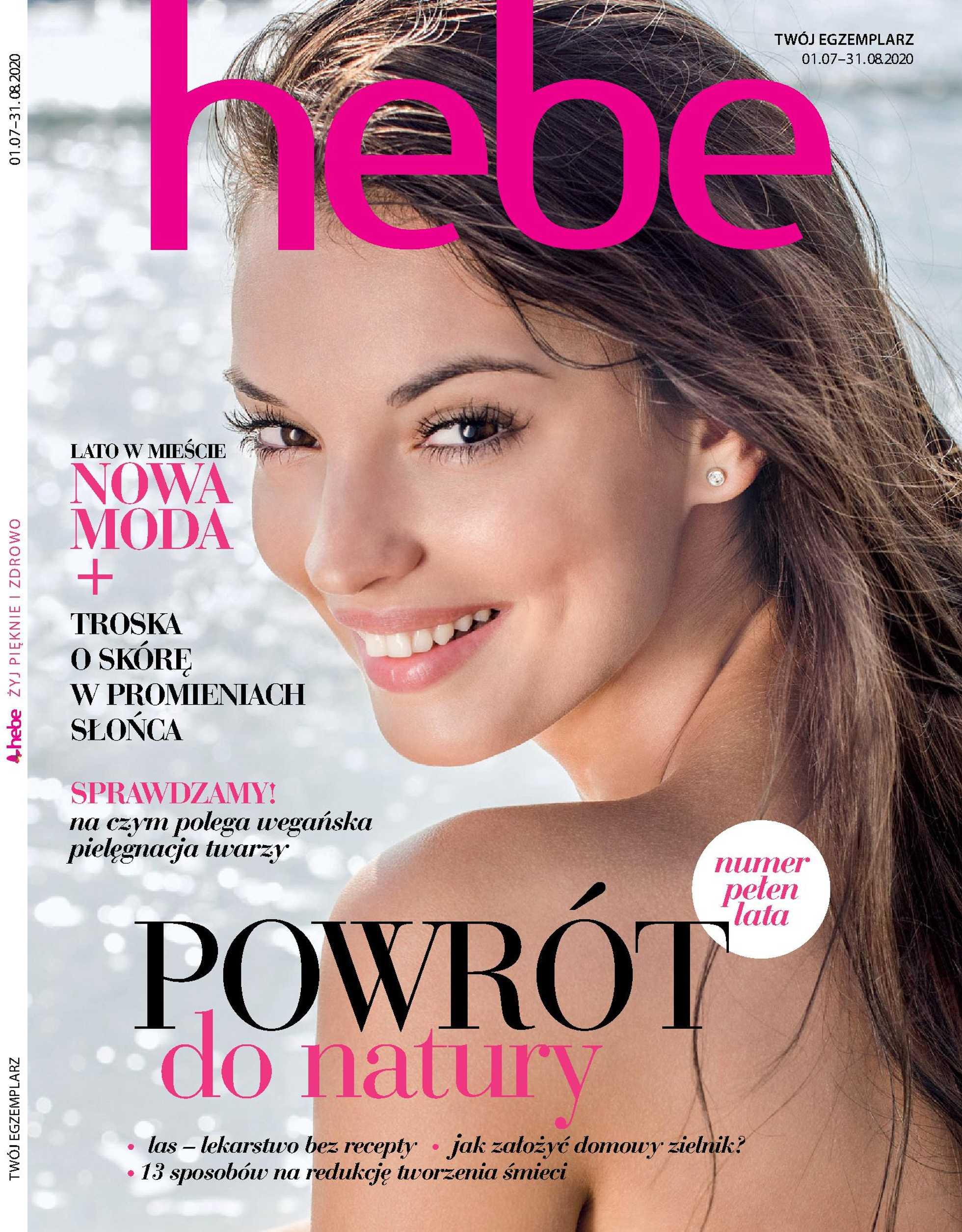 Hebe - gazetka promocyjna ważna od 01.07.2020 do 31.08.2020 - strona 1.