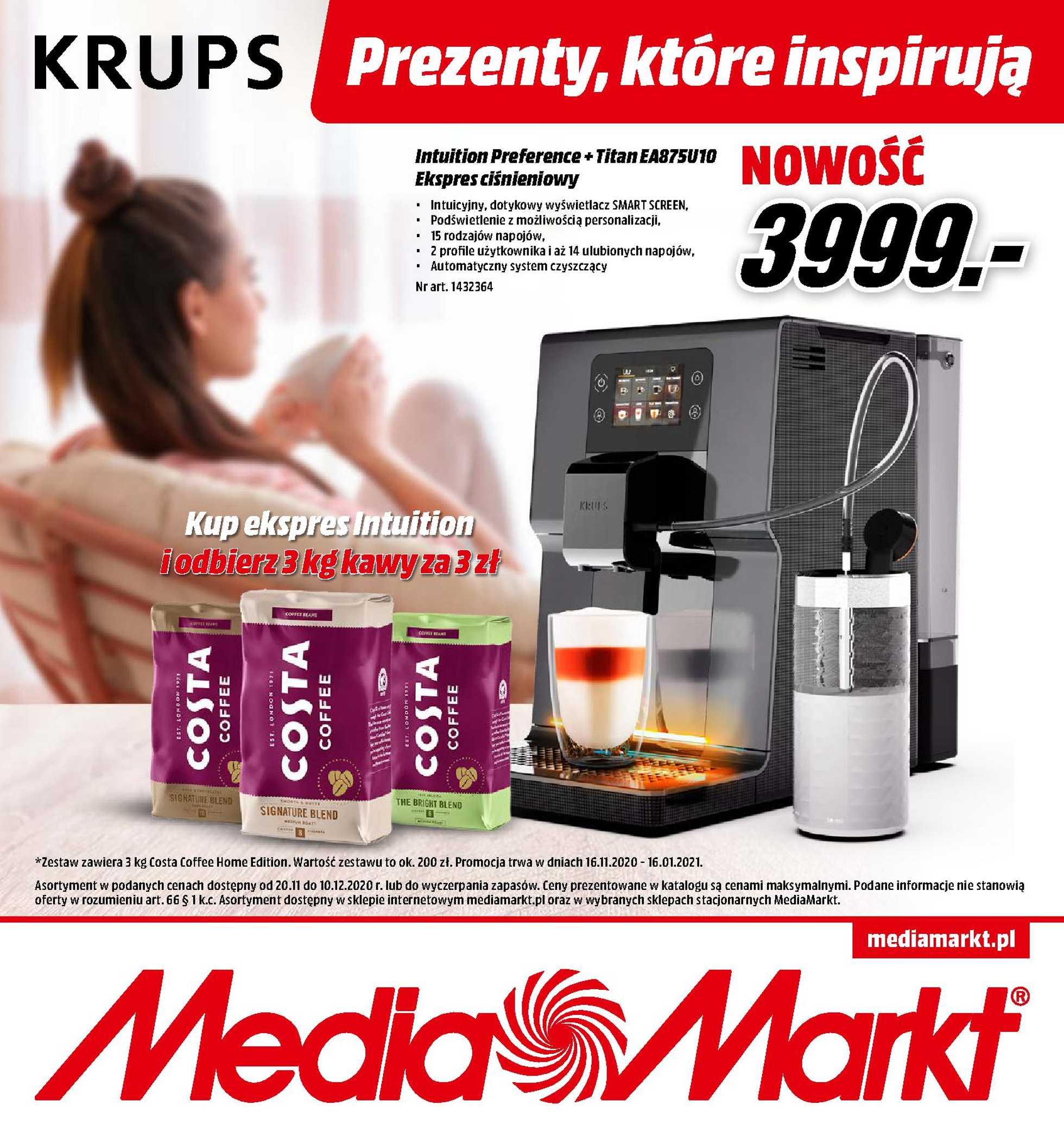 Media Markt - gazetka promocyjna ważna od 20.11.2020 do 10.12.2020 - strona 1.