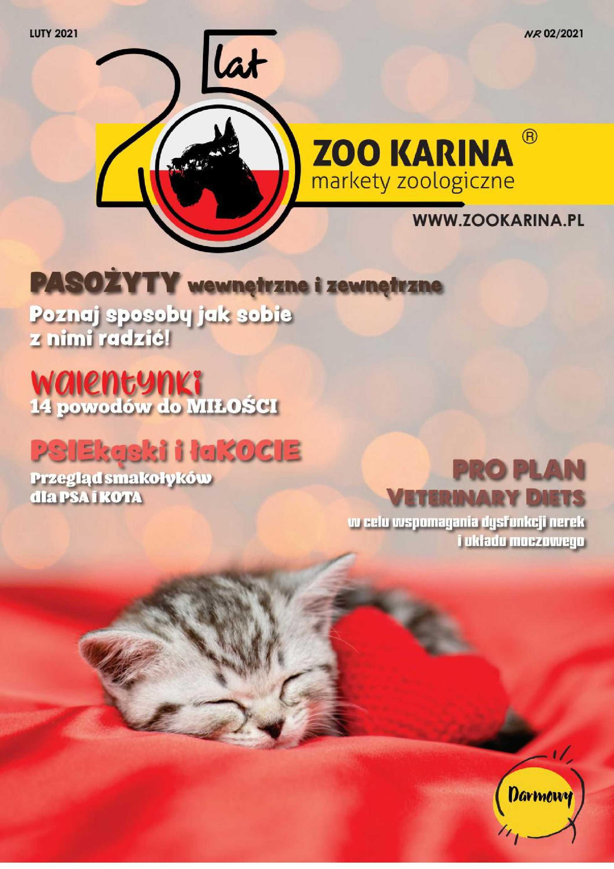 ZOO Karina - gazetka promocyjna ważna od 01.02.2021 do 28.02.2021 - strona 1.
