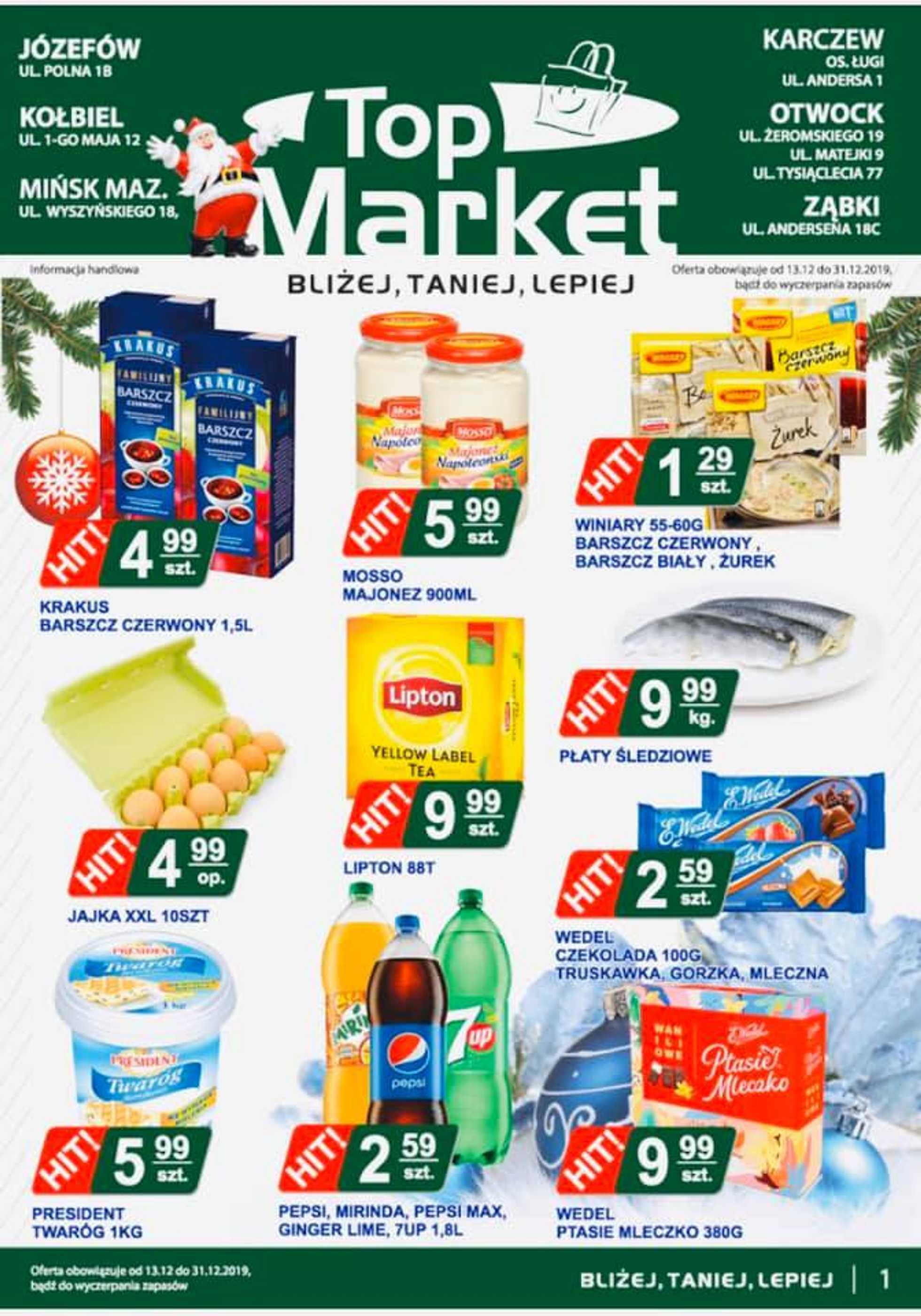 Top Market - gazetka promocyjna ważna od 13.12.2019 do 31.12.2019 - strona 1.