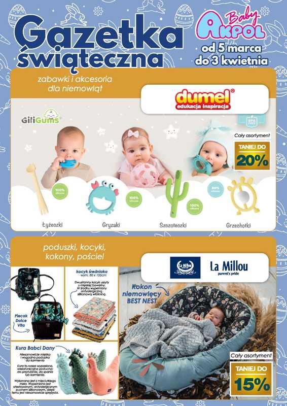 Akpol Baby - gazetka promocyjna ważna od 05.03.2021 do 03.04.2021 - strona 1.