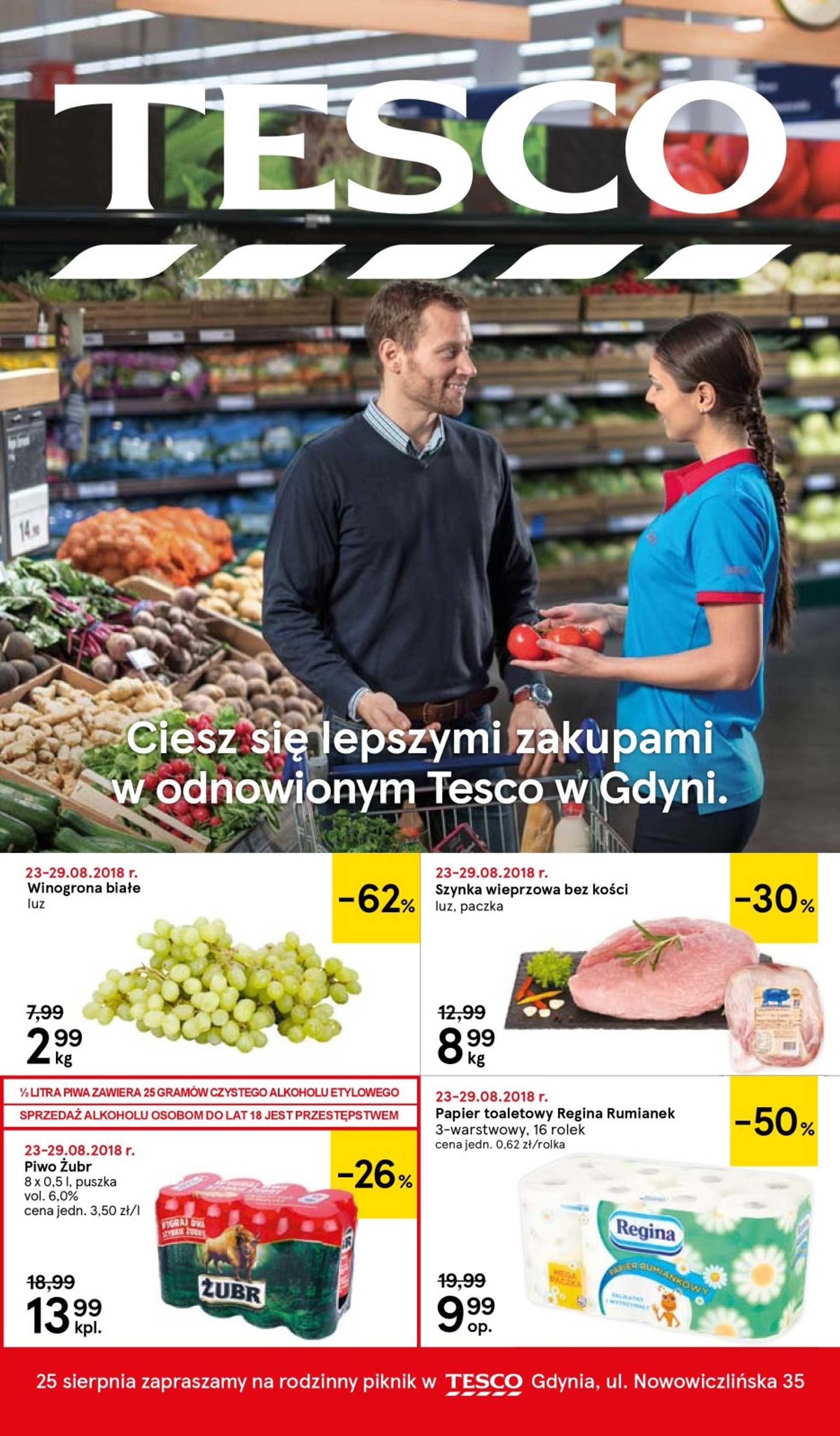 Tesco - gazetka promocyjna ważna od 23.08.2018 do 28.08.2018 - strona 1.