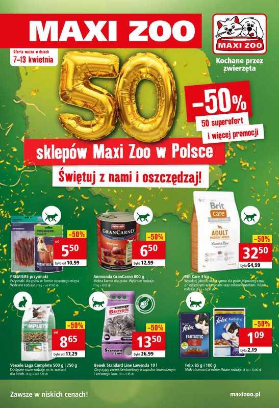 Maxi ZOO - gazetka promocyjna ważna od 07.04.2021 do 13.04.2021 - strona 1.