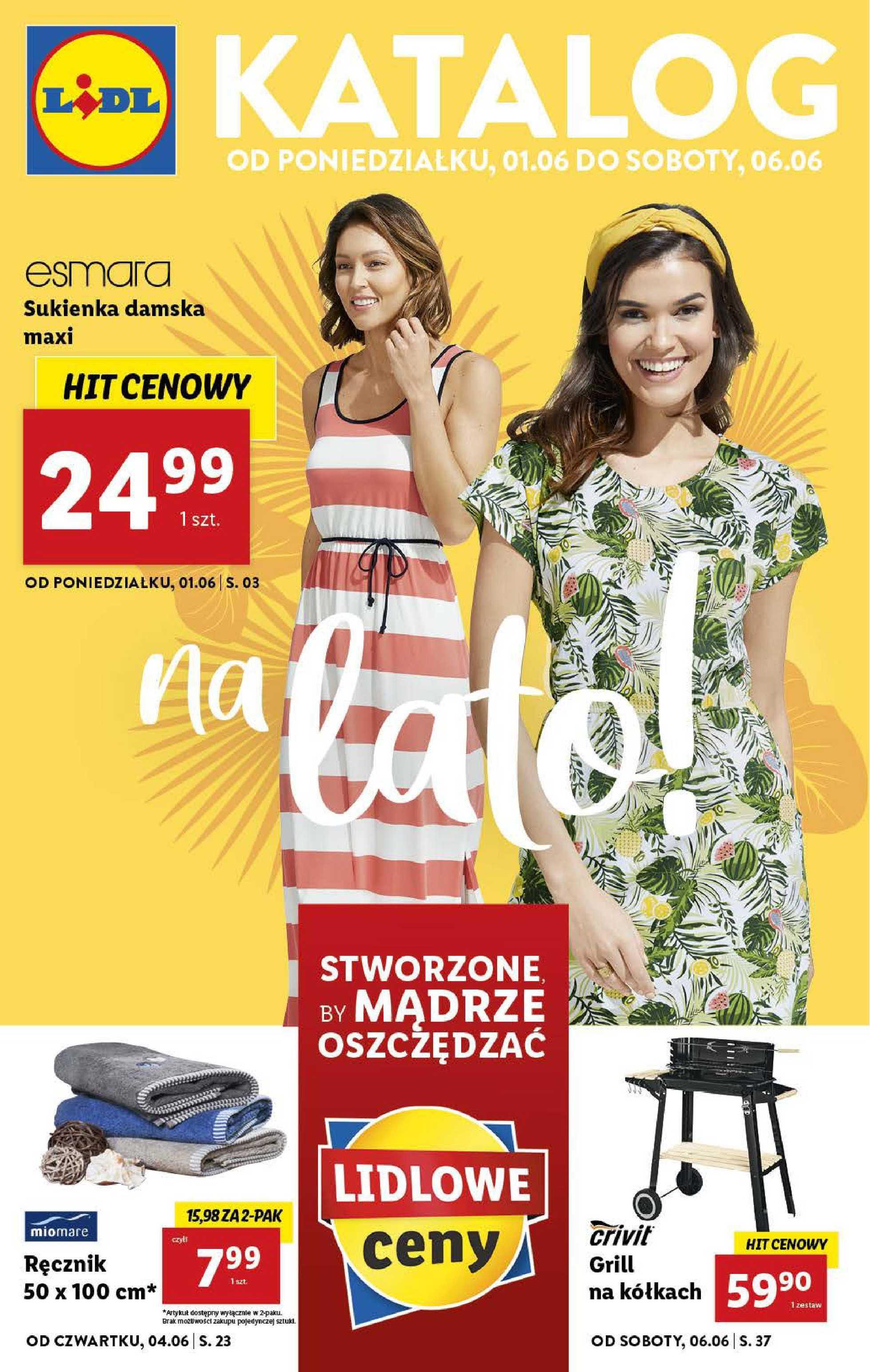 Lidl - gazetka promocyjna ważna od 01.06.2020 do 06.06.2020 - strona 1.