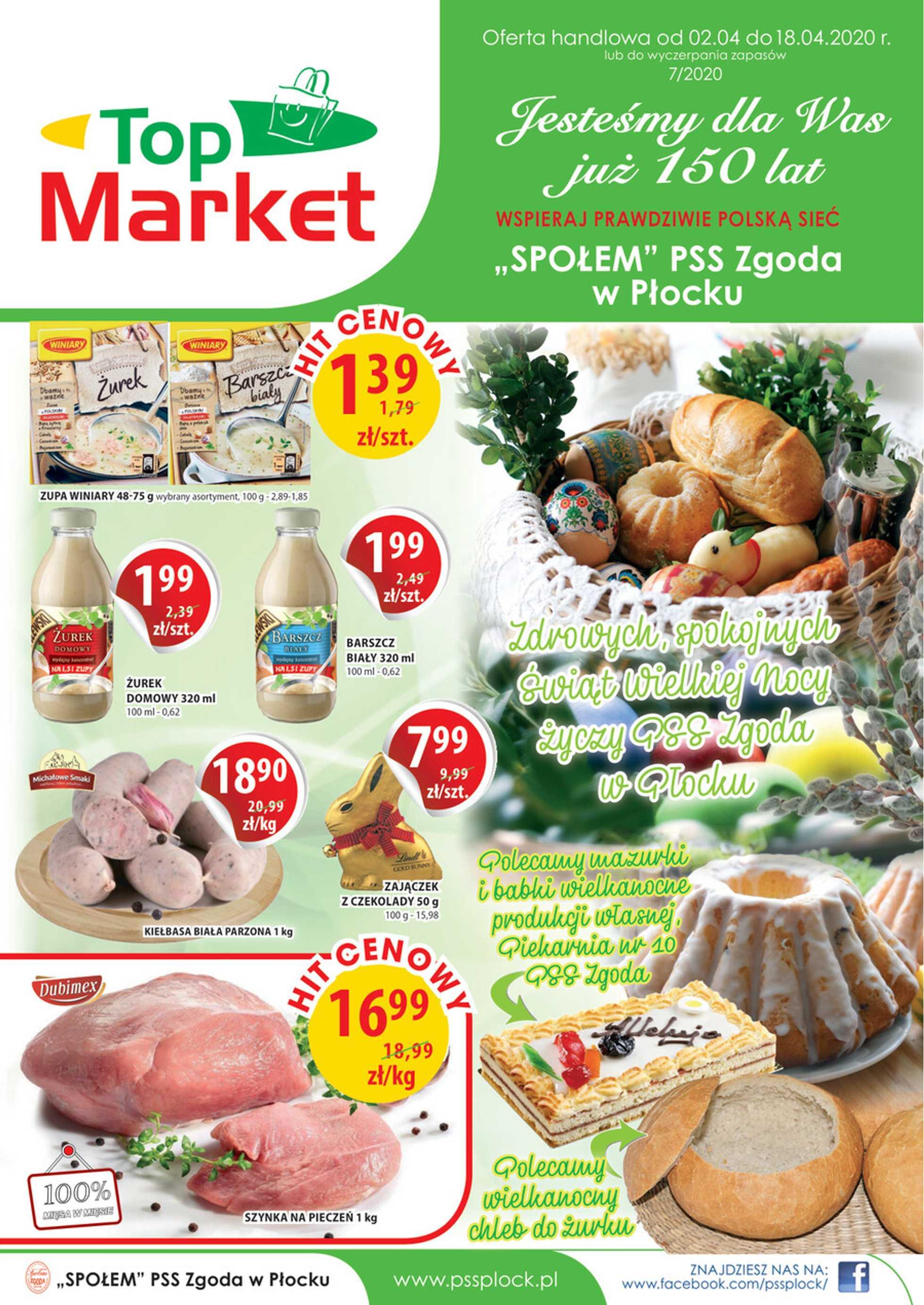 Top Market - gazetka promocyjna ważna od 02.04.2020 do 18.04.2020 - strona 1.