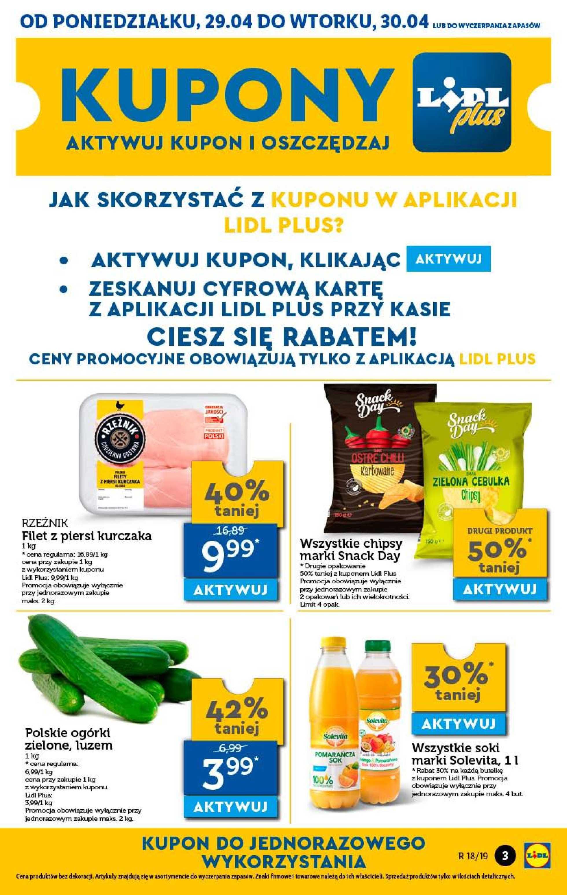 Lidl - gazetka promocyjna ważna od 29.04.2019 do 04.05.2019 - strona 3.