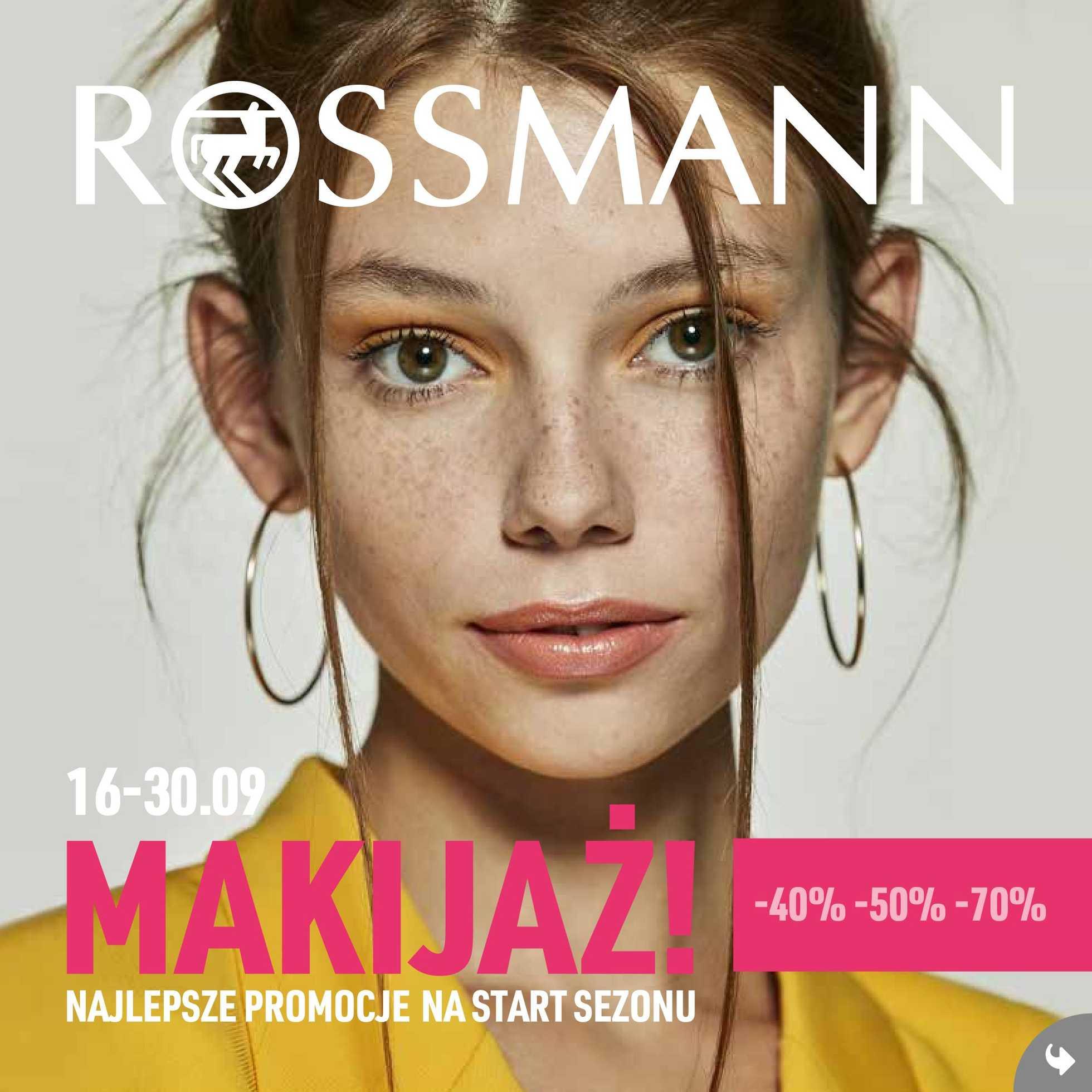 Rossmann - gazetka promocyjna ważna od 16.09.2019 do 30.09.2019 - strona 1.