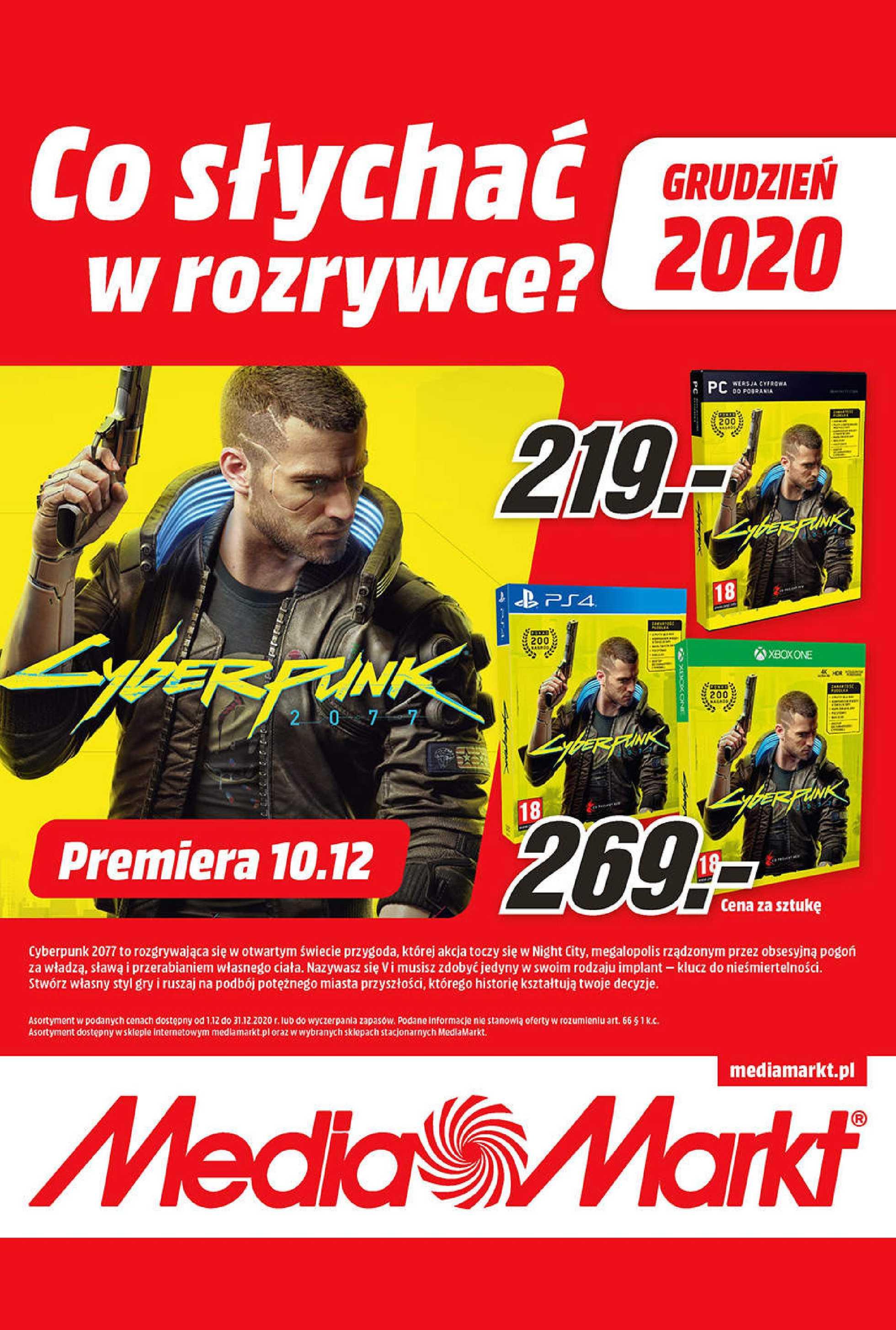 Media Markt - gazetka promocyjna ważna od 01.12.2020 do 31.12.2020 - strona 1.