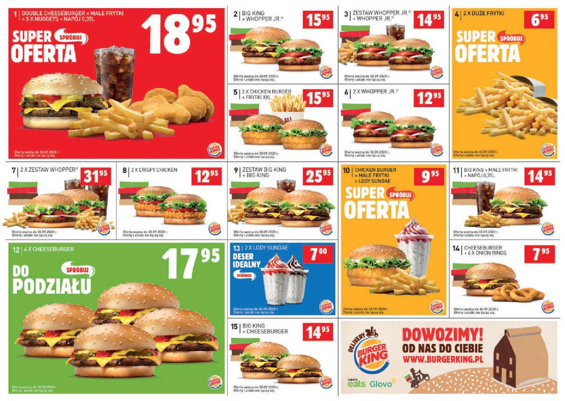 Burger King - gazetka promocyjna ważna od 20.08.2020 do 30.09.2020 - strona 1.