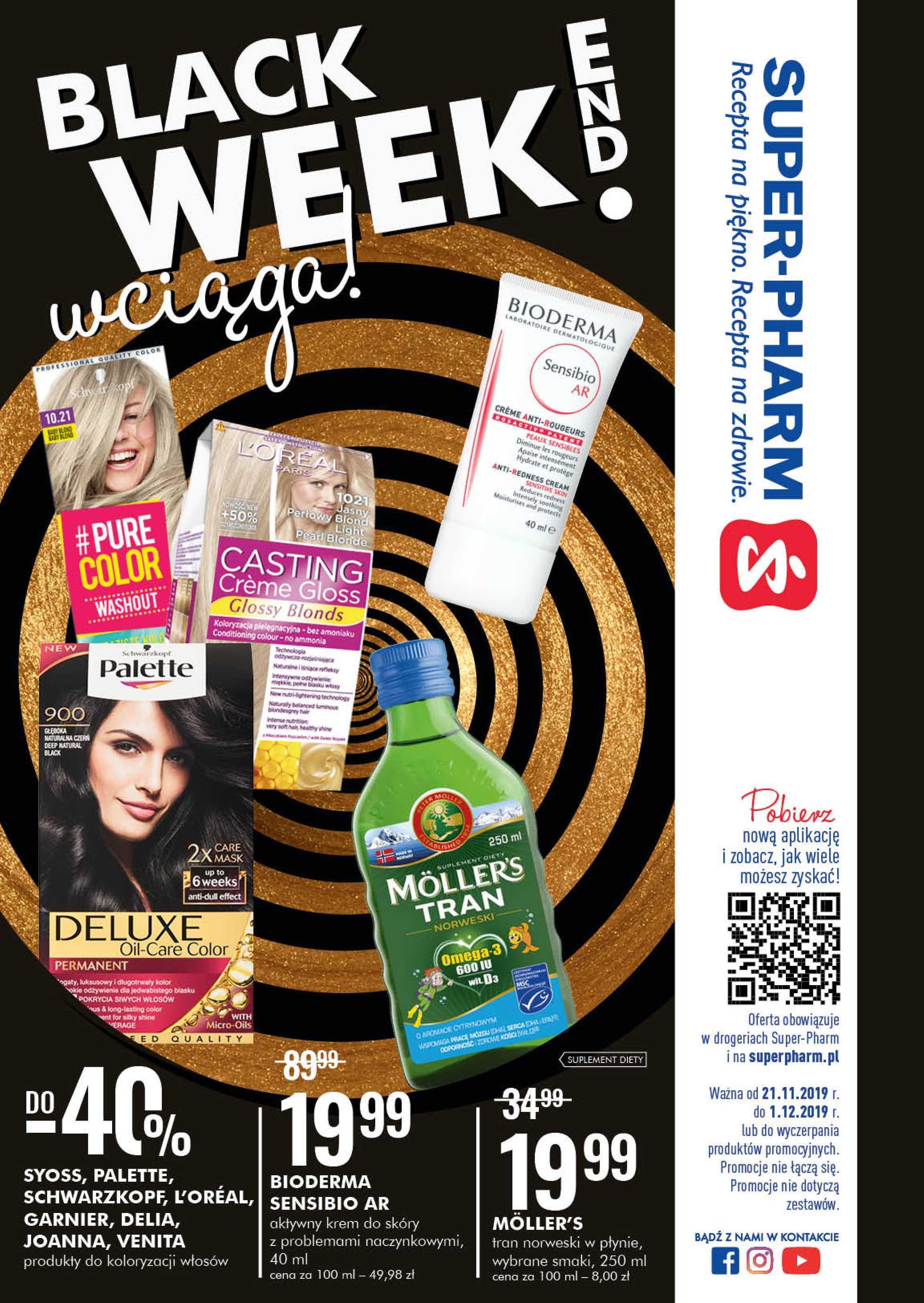 Super-Pharm - gazetka promocyjna ważna od 21.11.2019 do 01.12.2019 - strona 1.