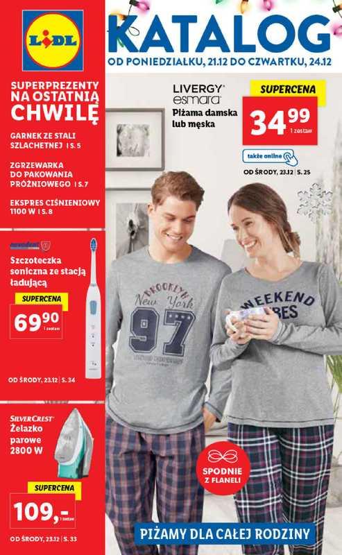 Lidl - gazetka promocyjna ważna od 21.12.2020 do 24.12.2020 - strona 1.