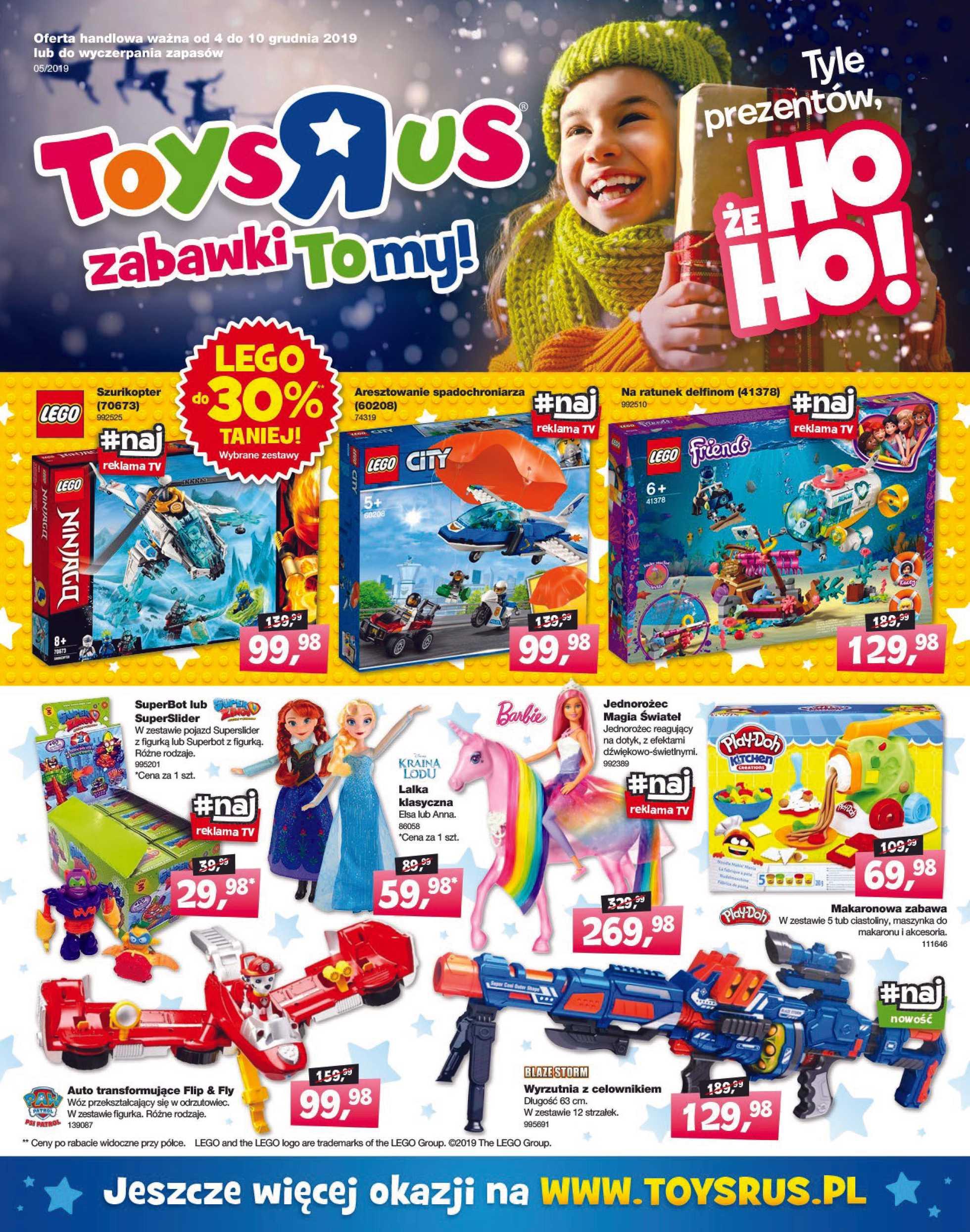 Toysrus - gazetka promocyjna ważna od 04.12.2019 do 10.12.2019 - strona 1.