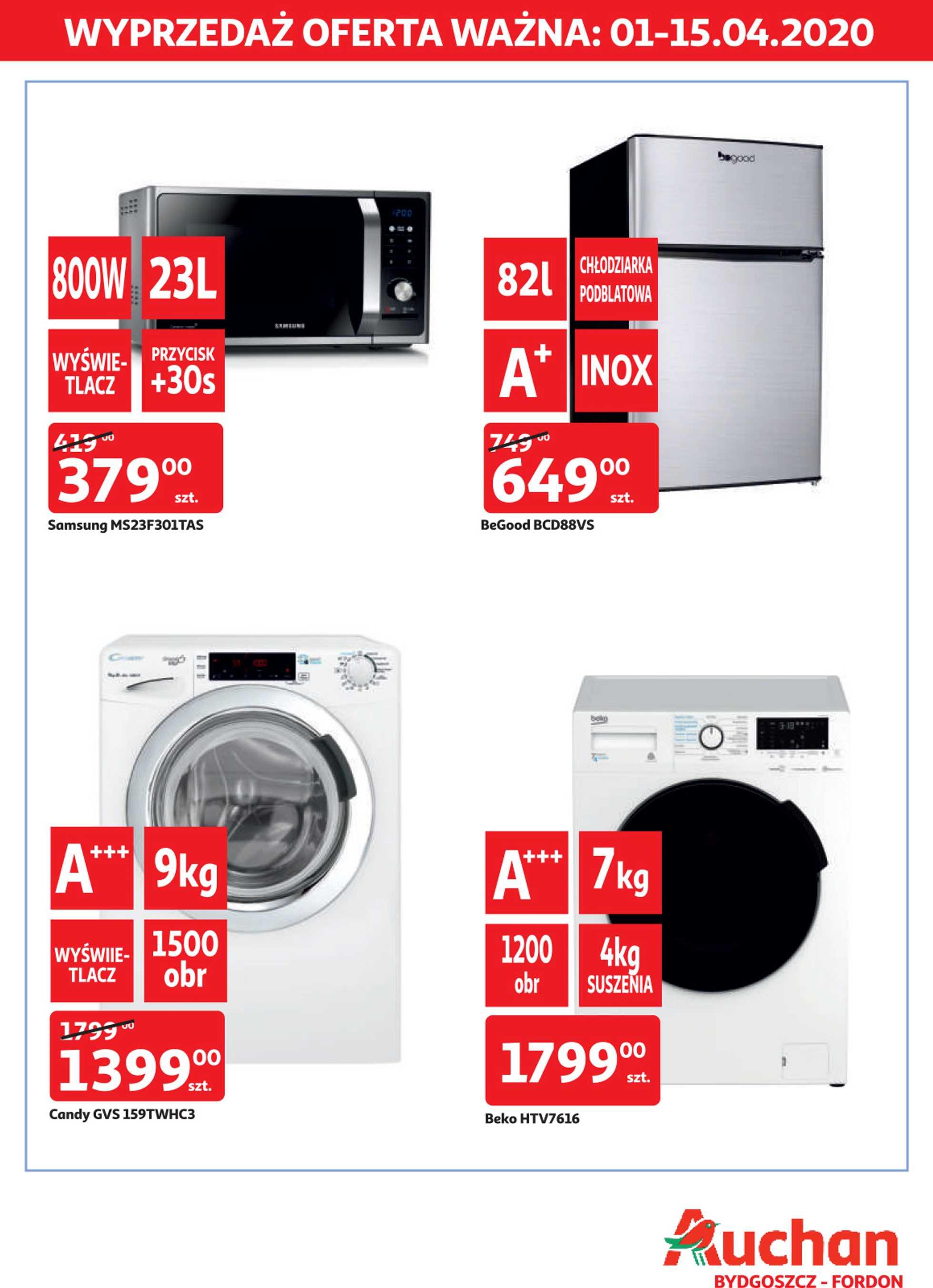 Auchan - gazetka promocyjna ważna od 01.04.2020 do 15.04.2020 - strona 1.