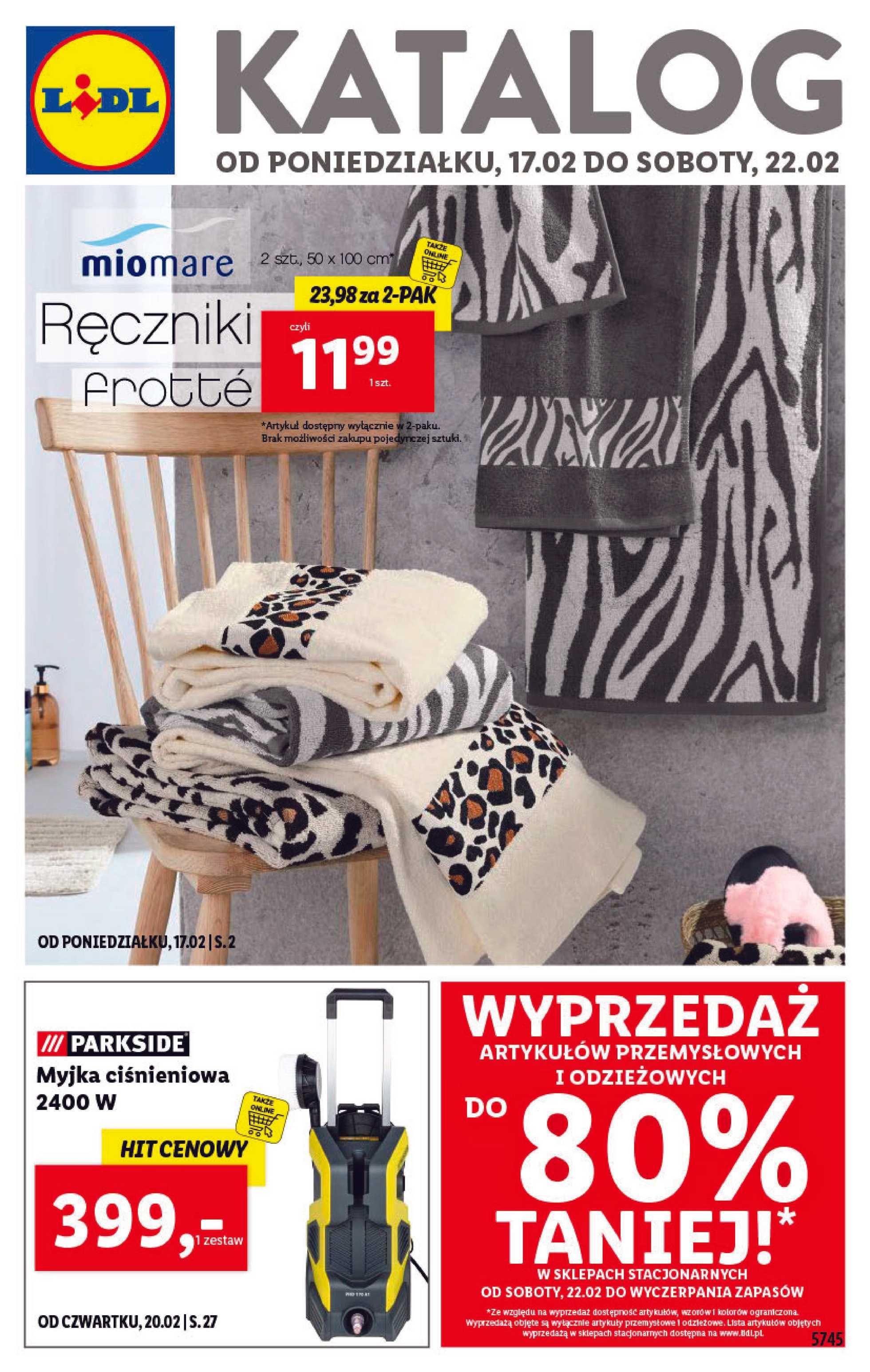 Lidl - gazetka promocyjna ważna od 17.02.2020 do 22.02.2020 - strona 1.