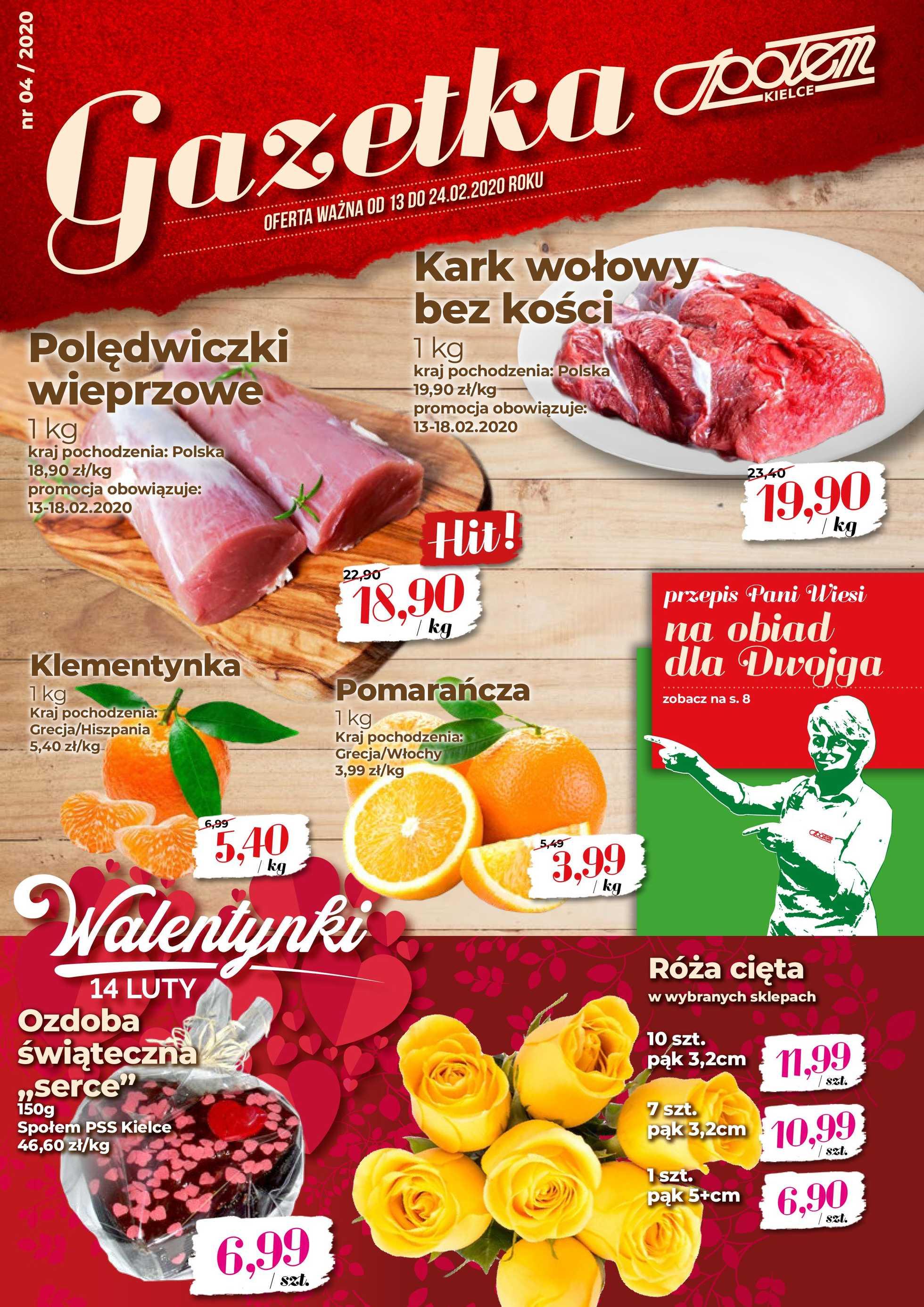 Społem Kielce - gazetka promocyjna ważna od 13.02.2020 do 24.02.2020 - strona 1.